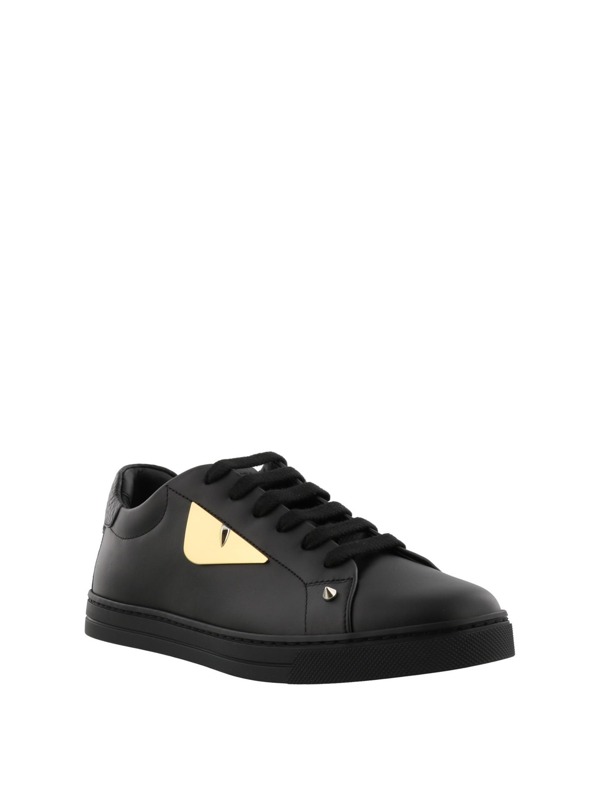 904ec48bf3 Fendi - Bag Bugs studded black leather sneakers - trainers ...