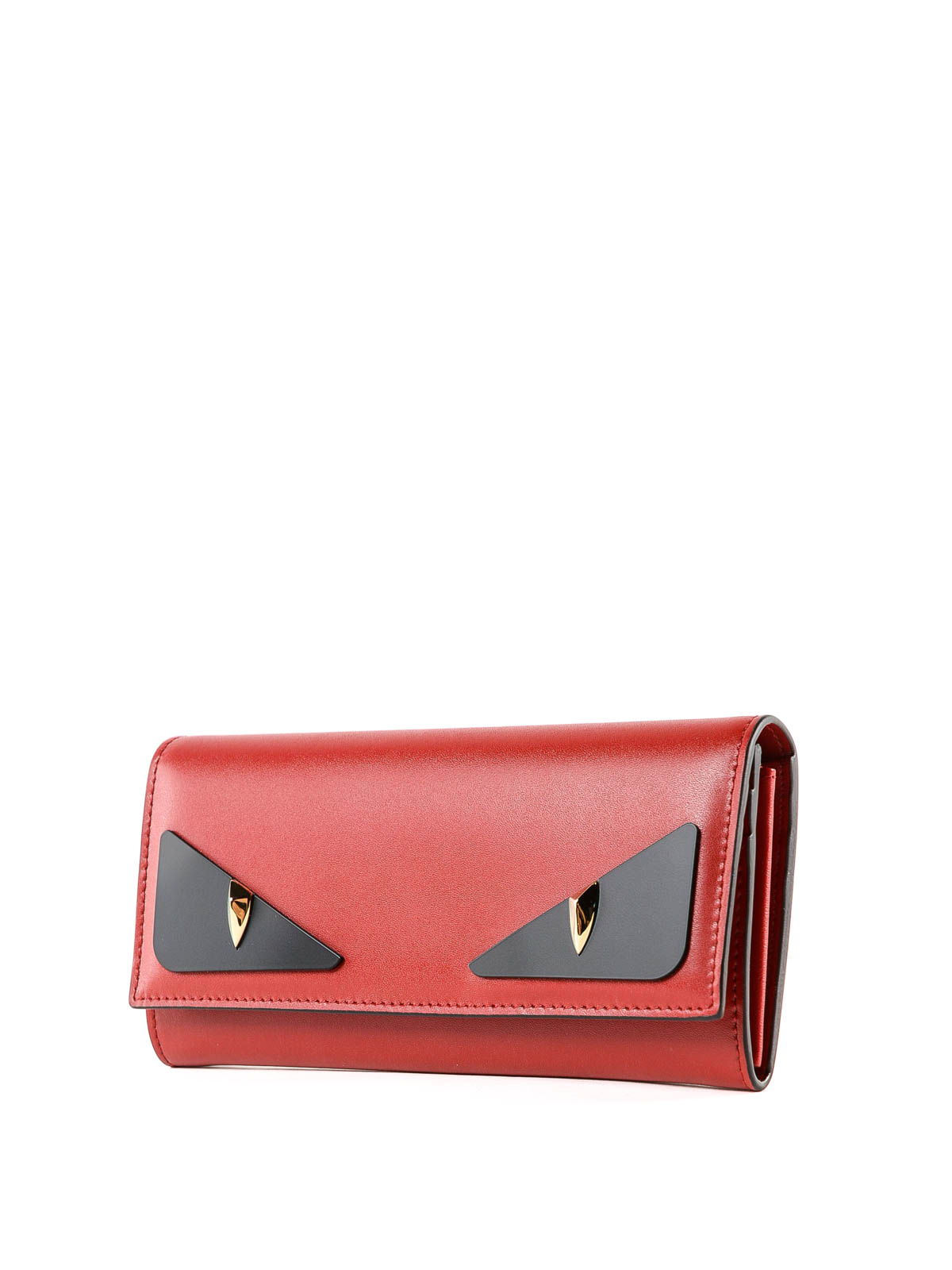 91fe56c0ce FENDI: wallets & purses online - Crayons red leather continental wallet