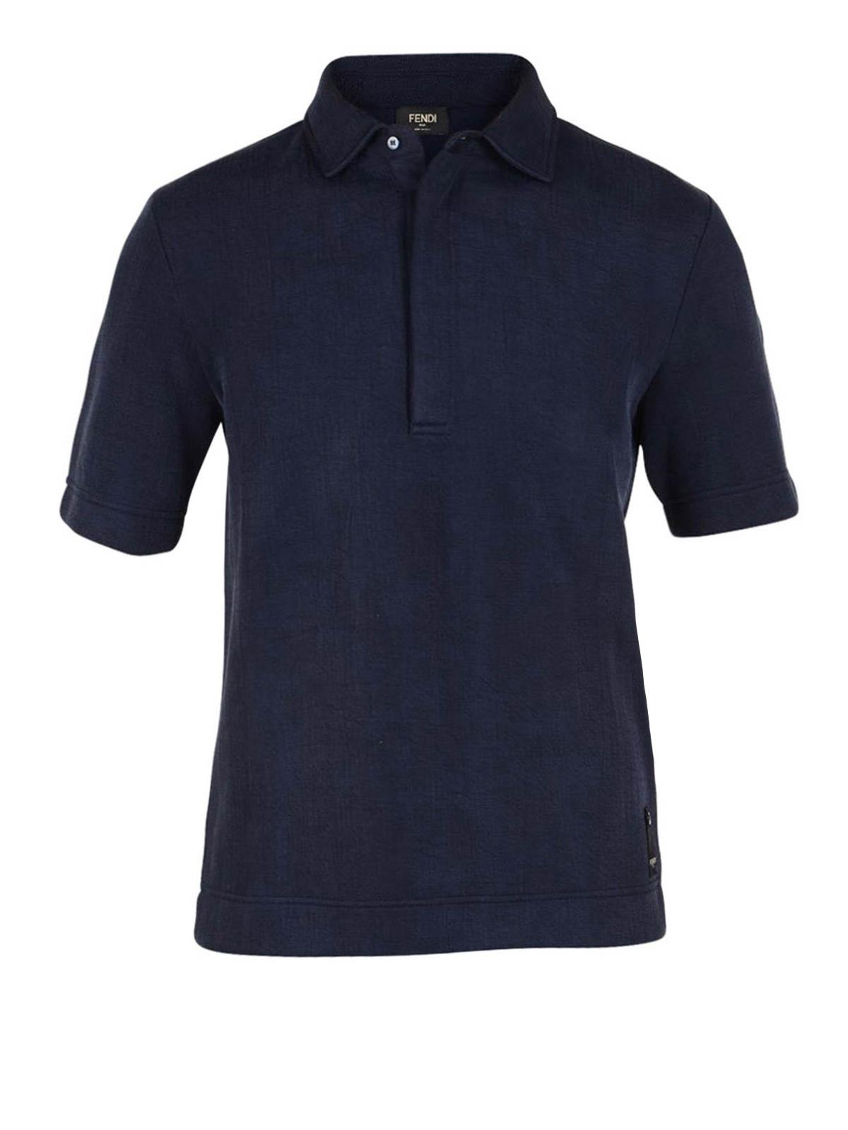 Lightweight Silky Polo Shirt By Fendi Polo Shirts Ikrix