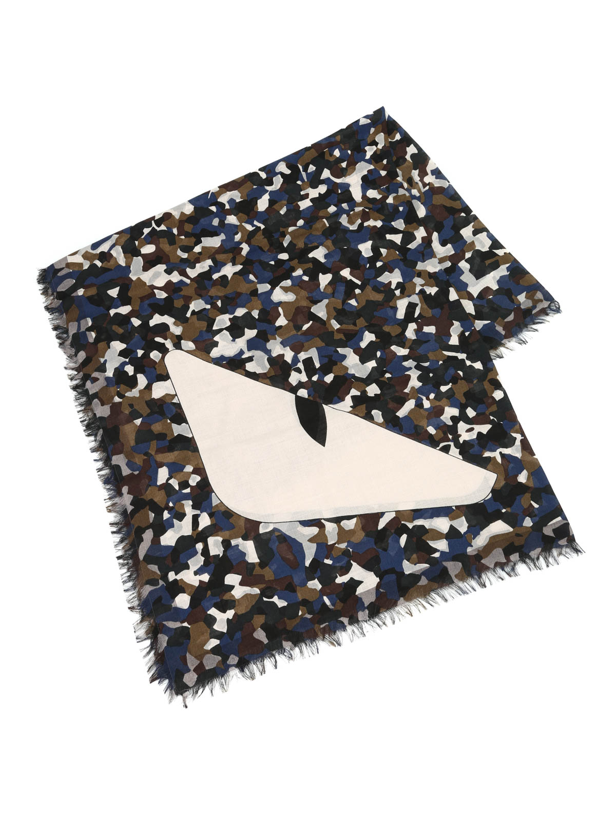 camouflage silk and wool scarf by fendi scarves ikrix