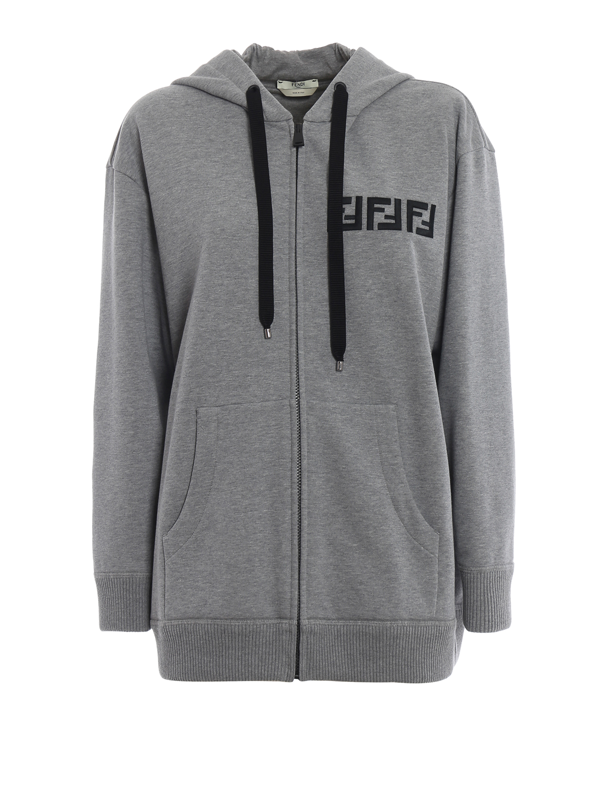 8b033def3 Fendi - FF embroidery and multicolour beads hoodie - Sweatshirts ...