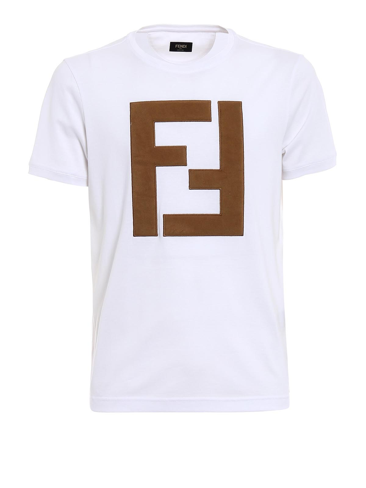 Alcantara Maxi Logo Patch T Shirt By Fendi T Shirts Ikrix