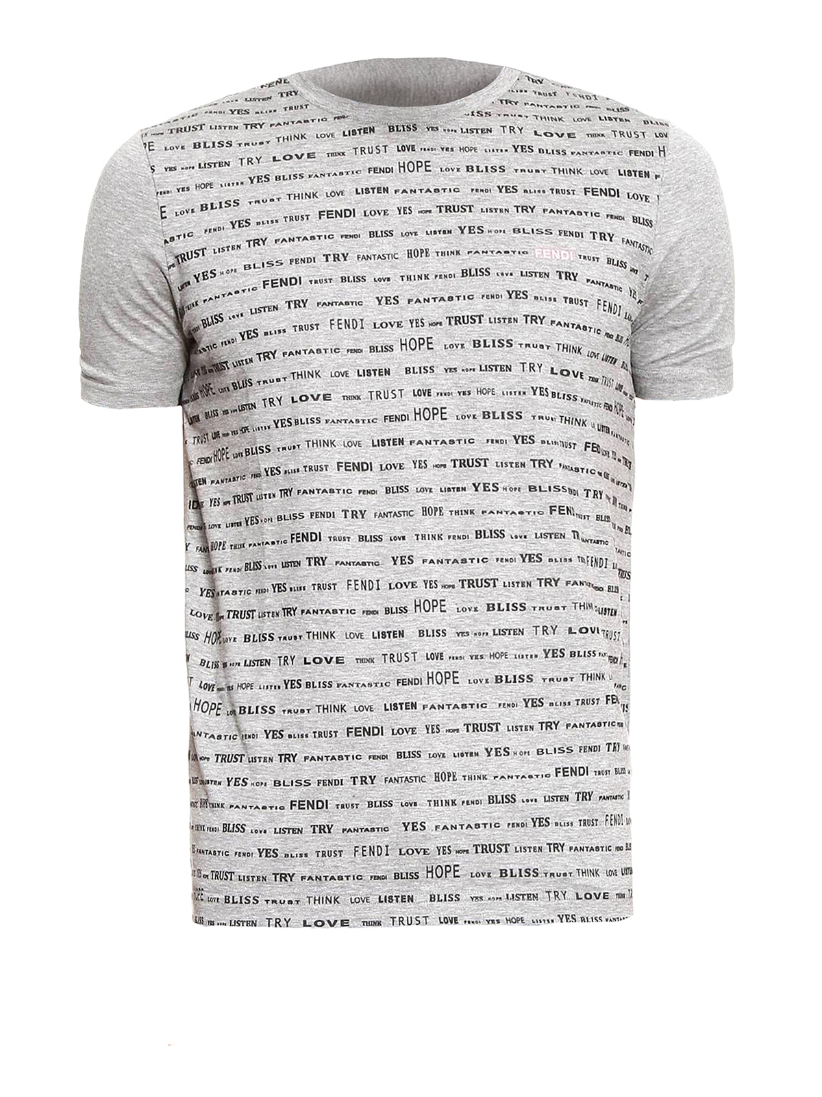 All over words print cotton t shirt by fendi t shirts for All over print t shirt