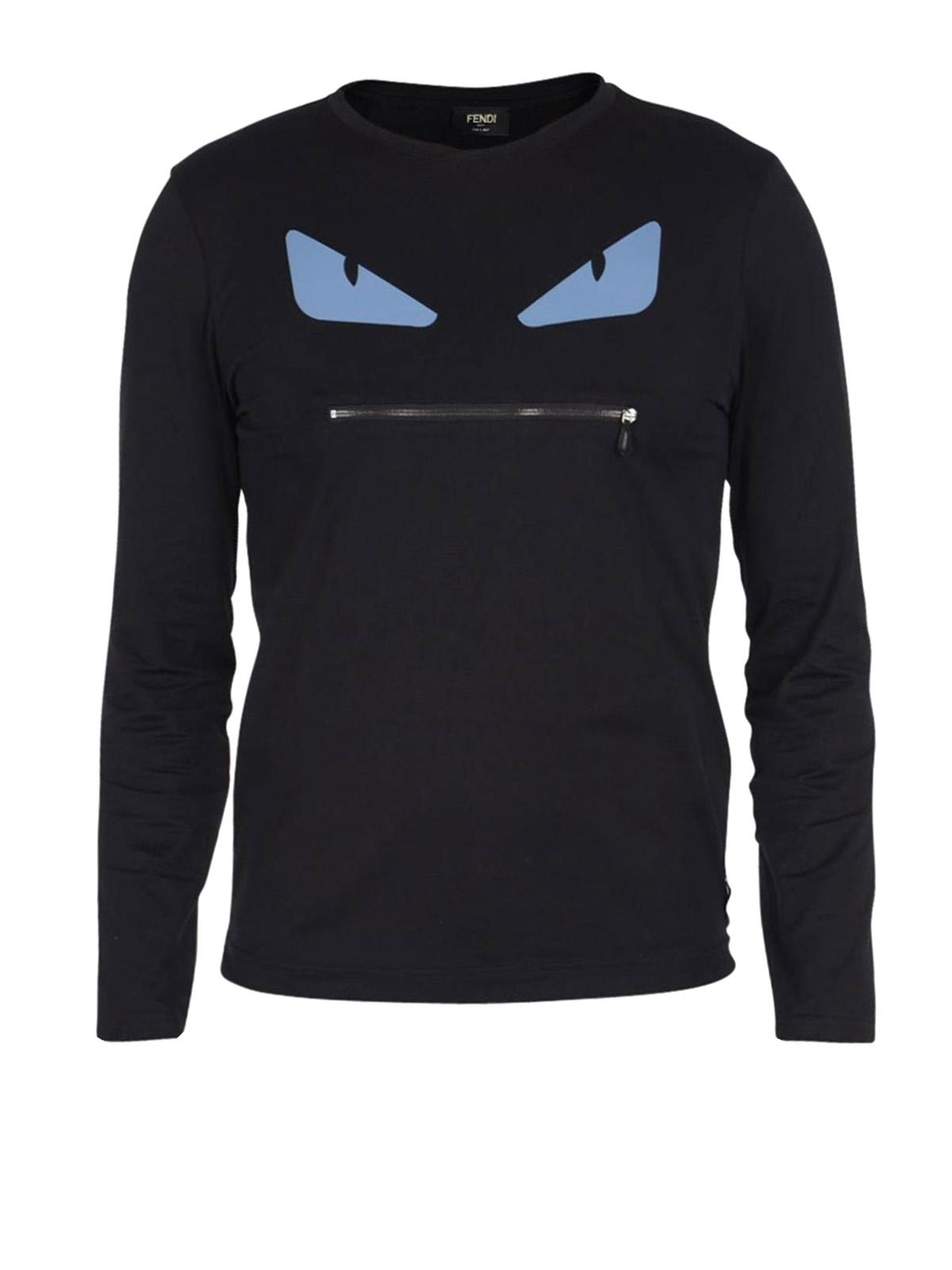 Long Sleeved Bag Bug T Shirt By Fendi T Shirts Ikrix