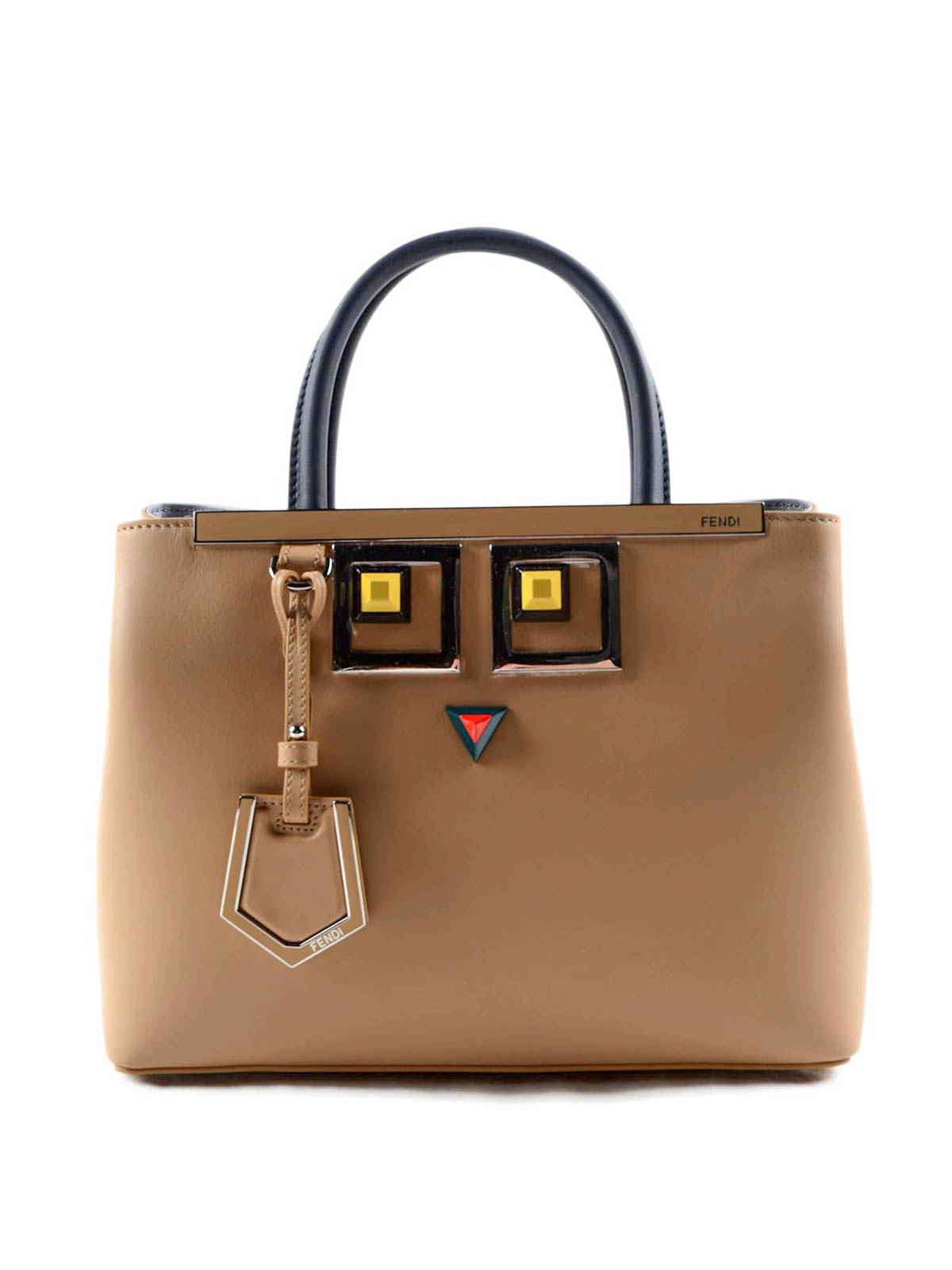 5835298fccd6 Fendi - Petite 2Jours Square Eye detail bag - totes bags - 8BH253SGJNMU