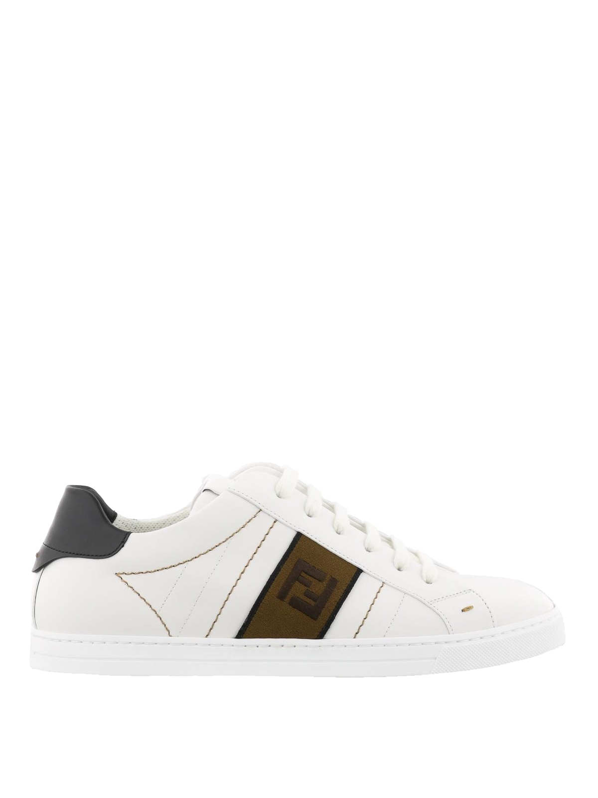 b6227615f8c Fendi - FF jacquard band leather sneakers - trainers - 7E1166A3XLF13TH