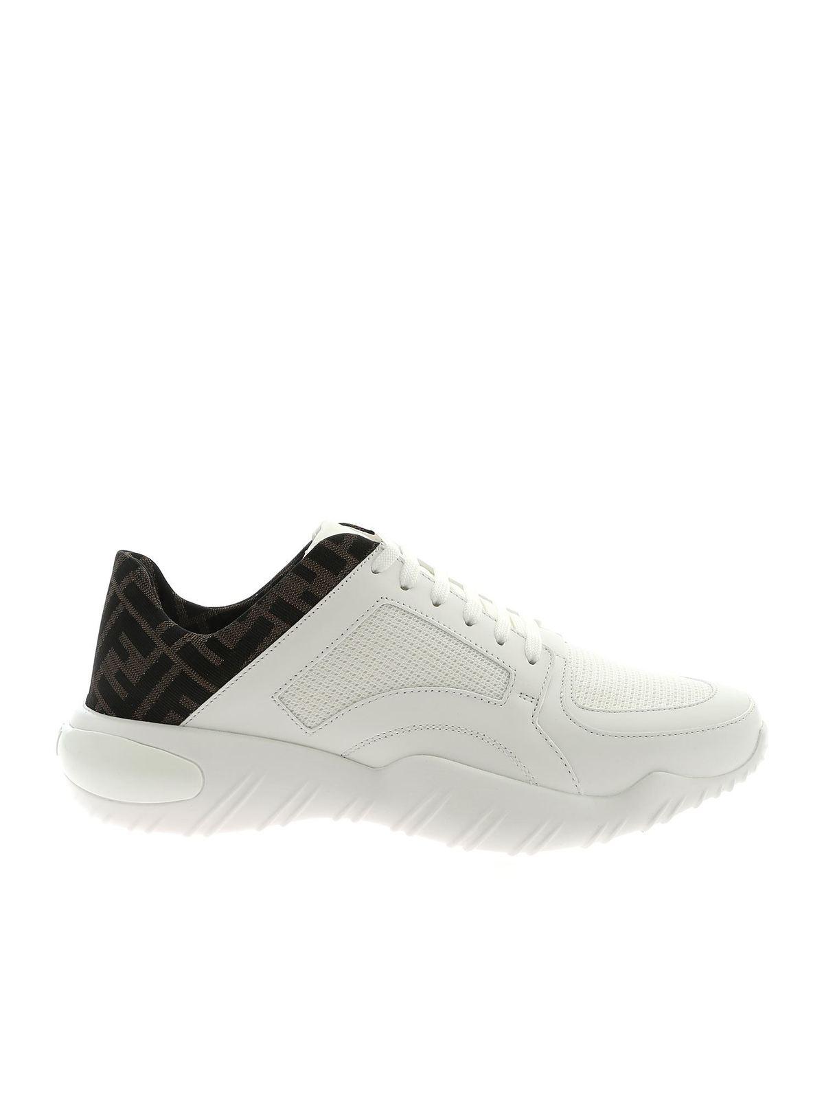 Fendi Sneakers LOGO SNEAKERS IN WHITE