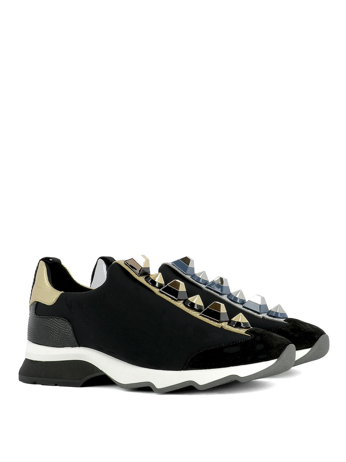 Fendi Chaussures De Sport Minimum - Noir u2vz3lzKzS
