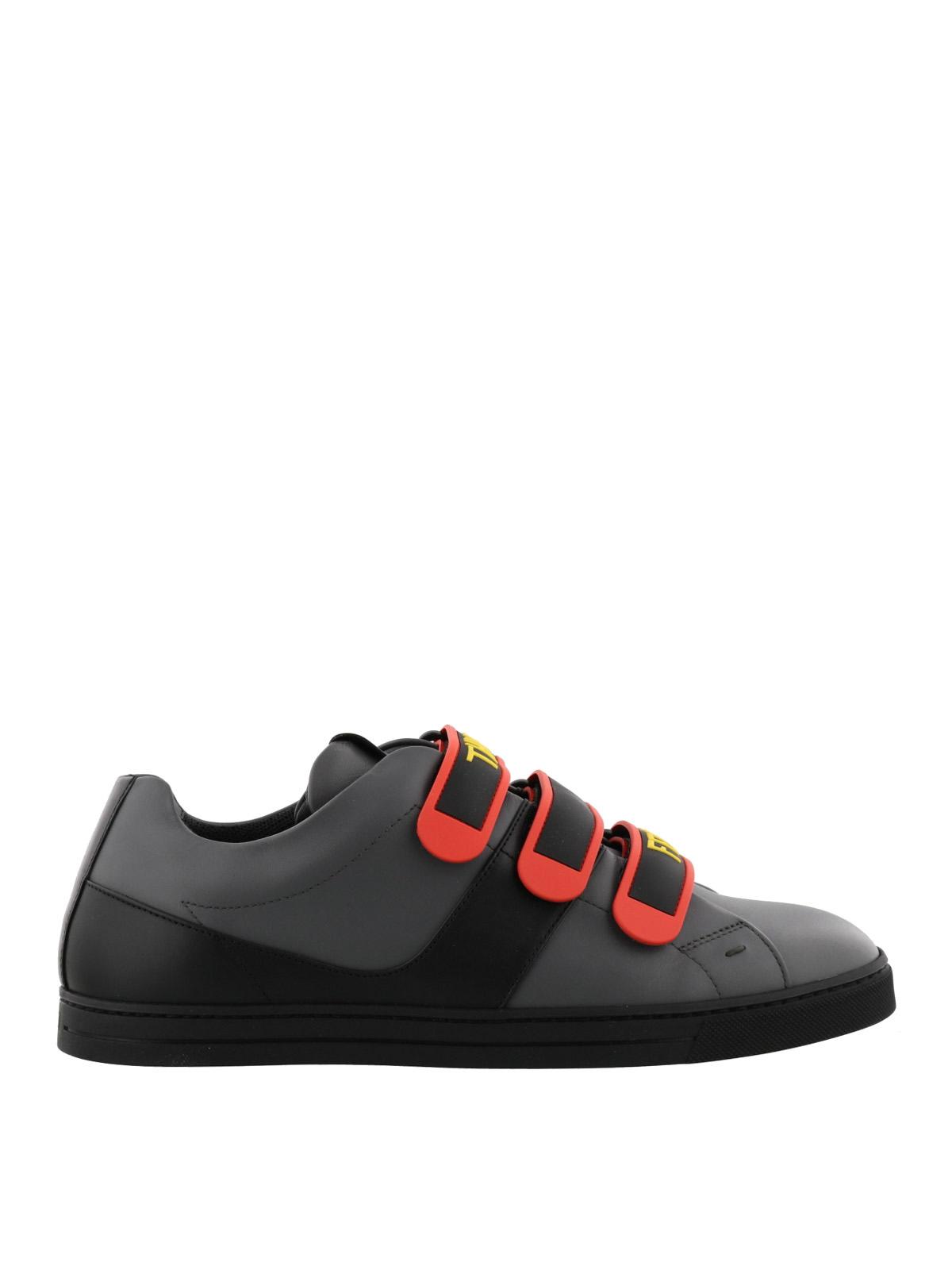 Think Fendi velcro straps sneakers