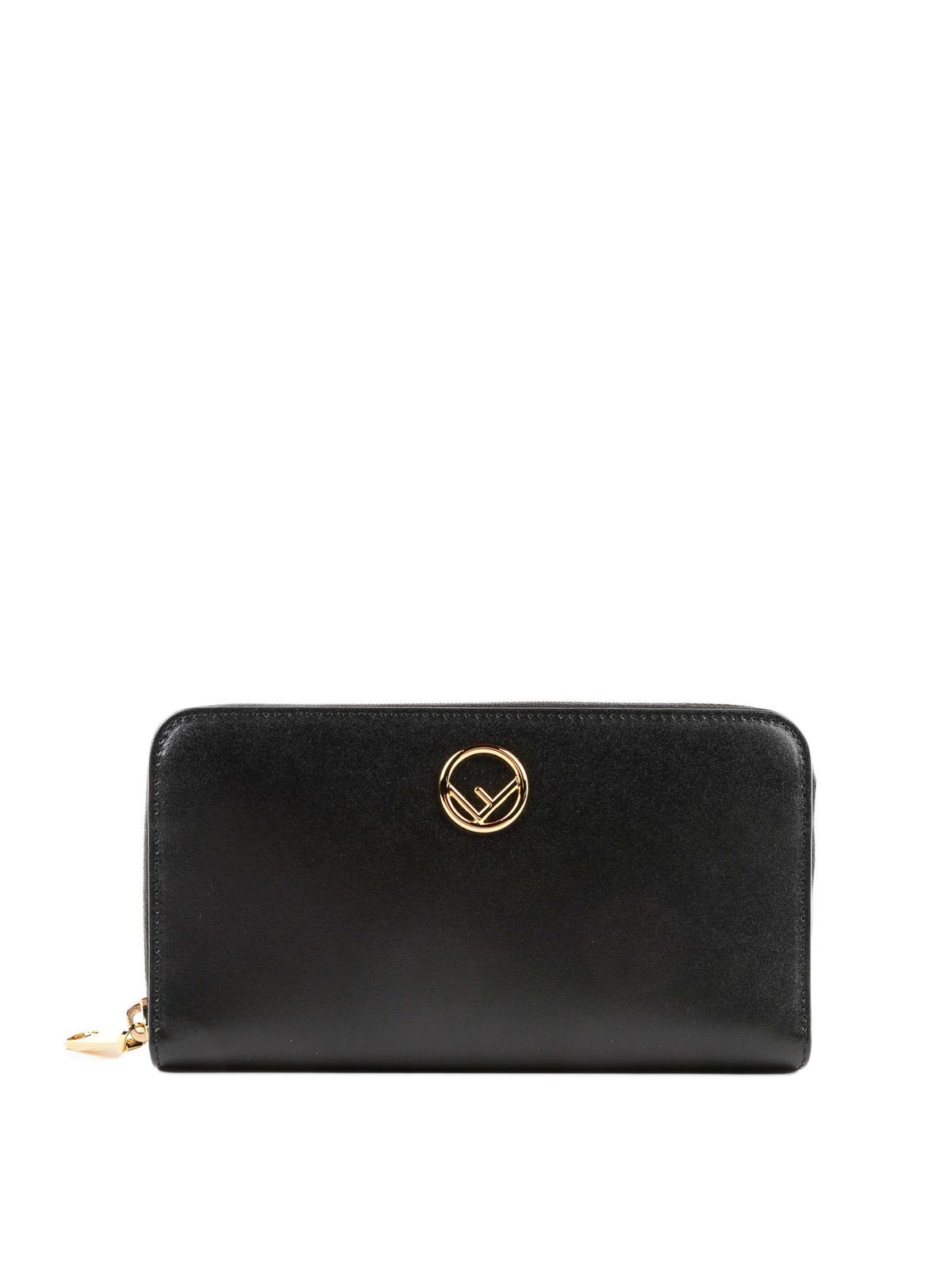 0a98049e093c FENDI  wallets   purses - F is Fendi black leather zip around wallet