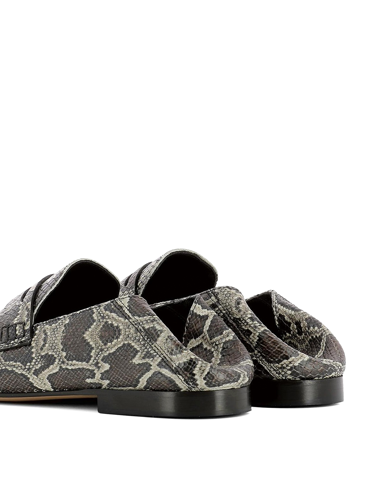 ddf73c7b3a0 Isabel Marant - Fezzy python print leather loafers - Loafers ...