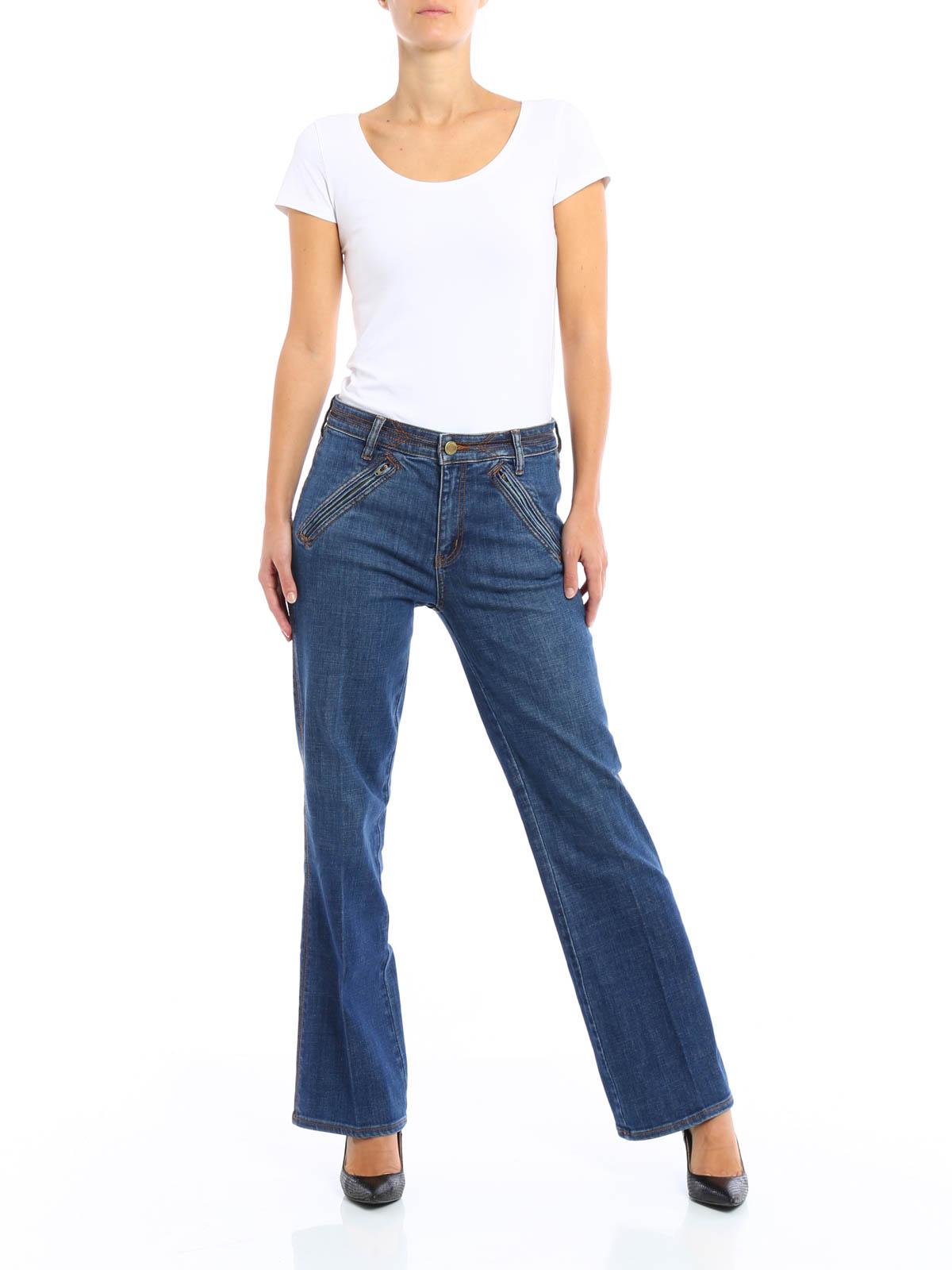 f8281e3720 Tory Burch - Jeans Fiador crop - jeans a zampa - 30382 461 | iKRIX.com