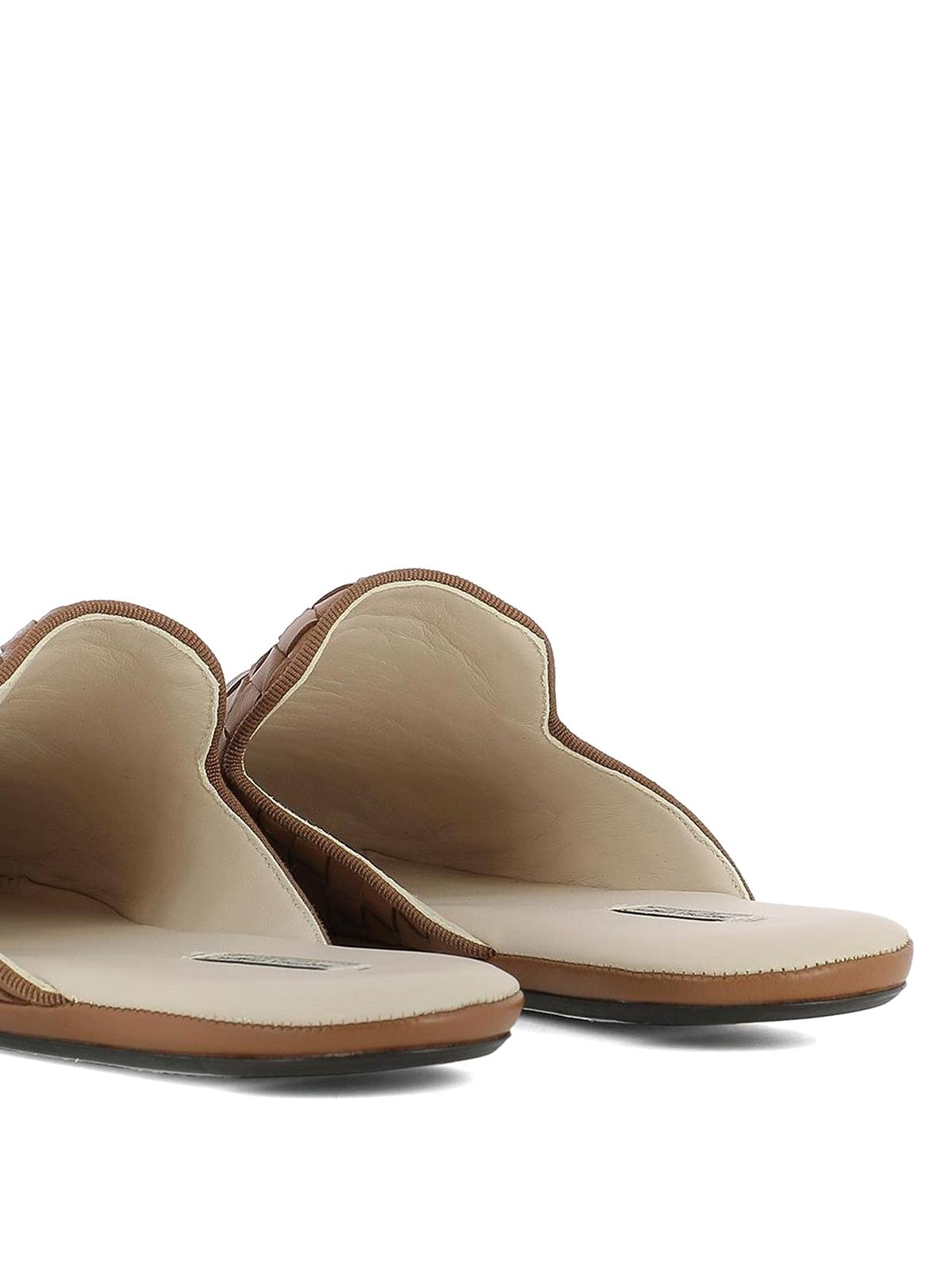 5116b26d4898 Bottega Veneta - Fiandra light brown slippers - mules shoes ...