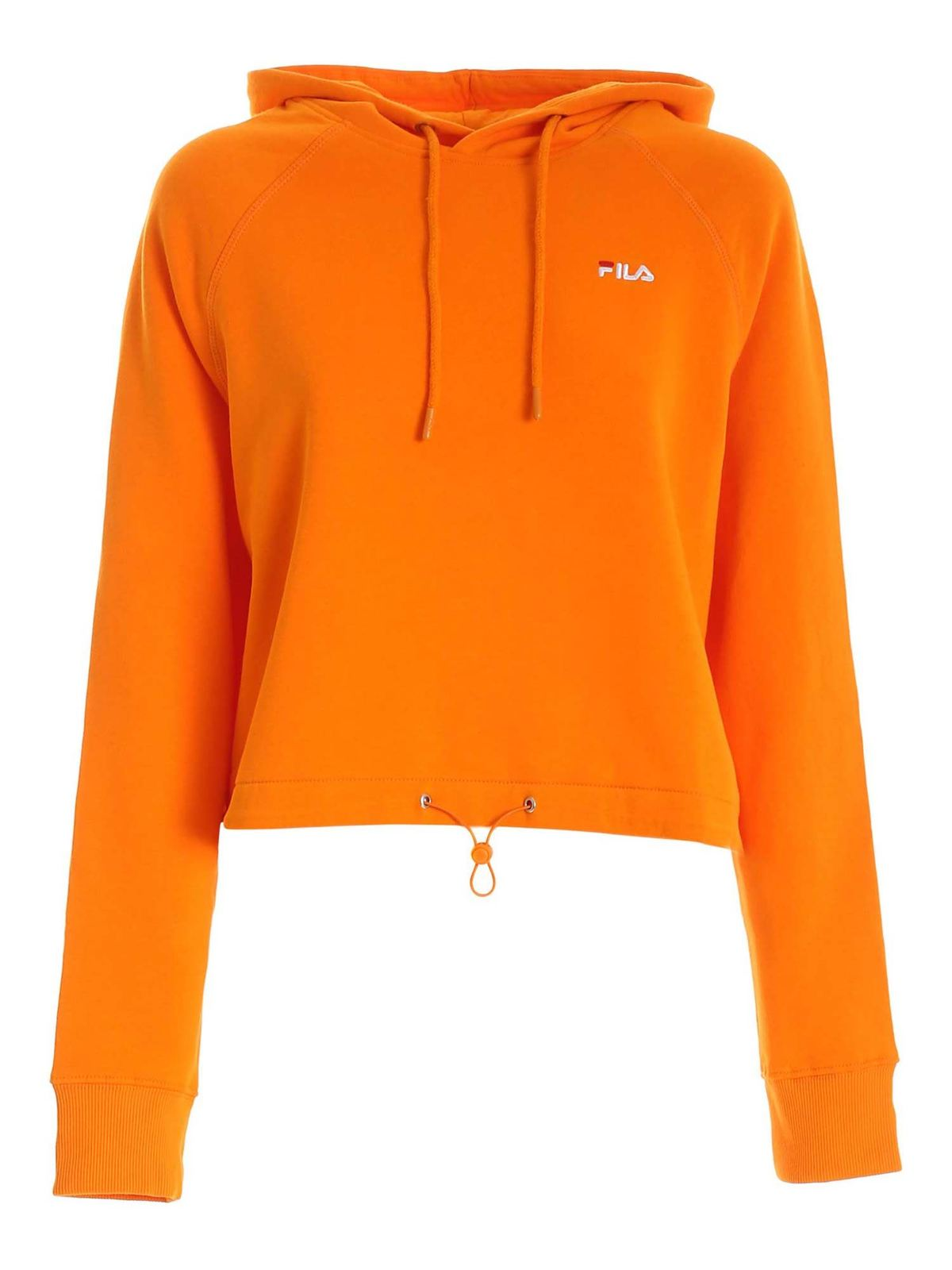 Fila ELAXI CROPPED SWEATSHIRT IN ORANGE