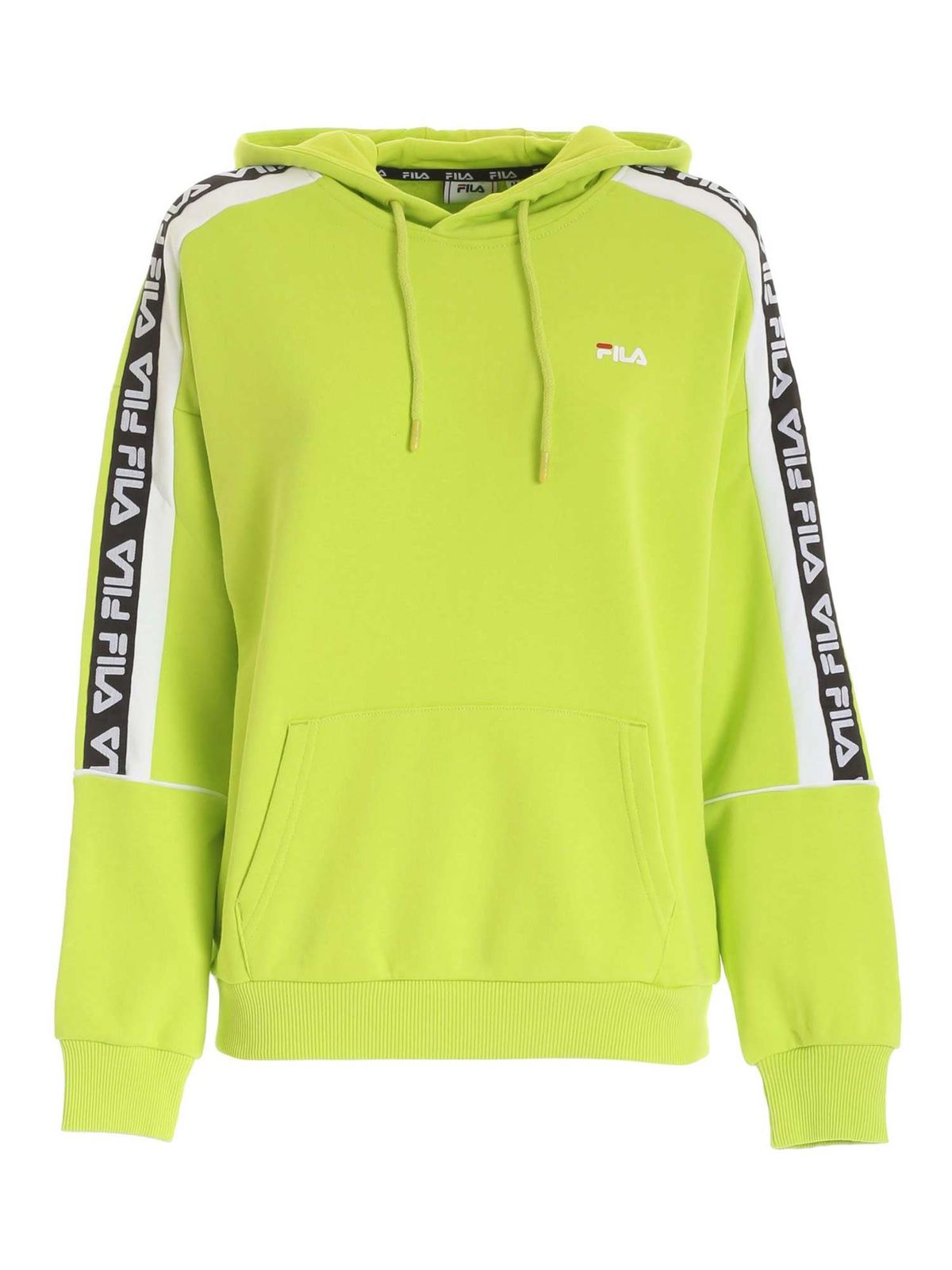 Fila HOODED SWEATSHIRT IN FLUO GREEN