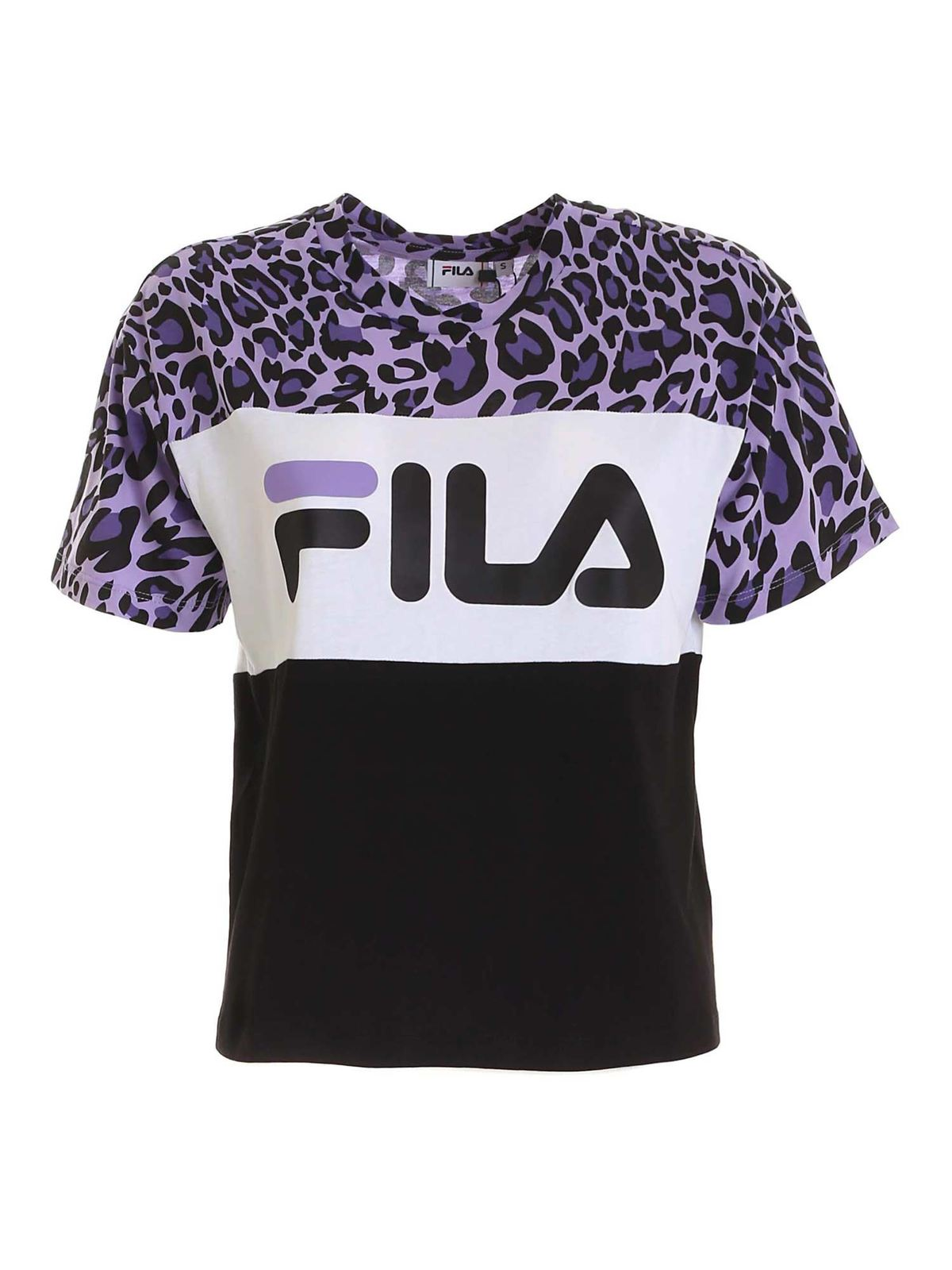 Fila ALLISON T-SHIRT IN PURPLE AND BLACK