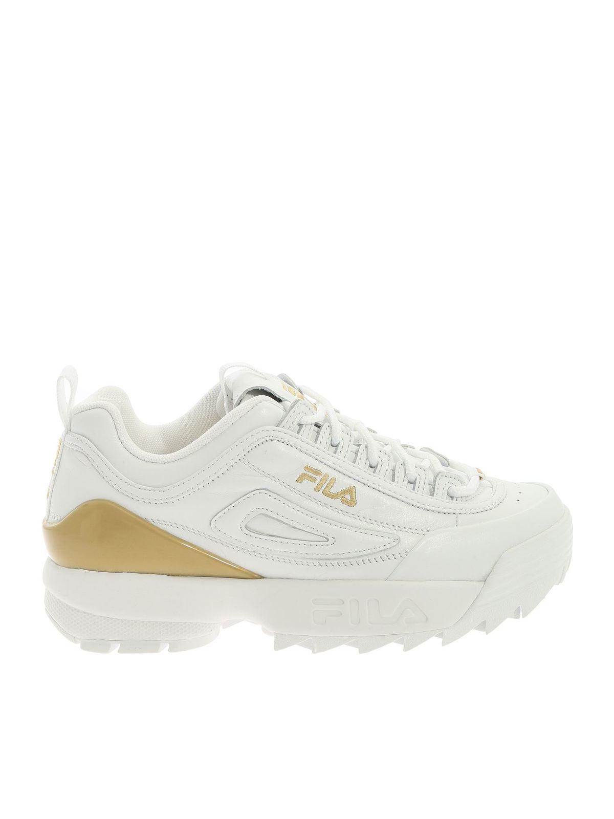 fila trainers gold