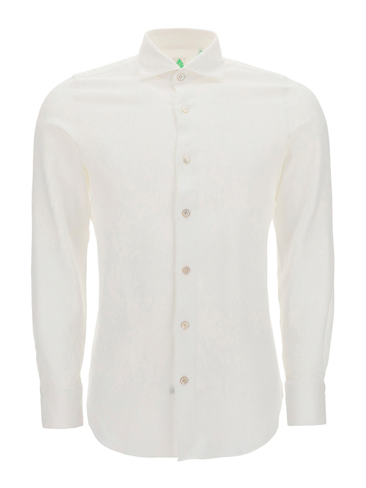 Finamore 1925 FRENCH COLLAR COTTON SLIM FIT SHIRT