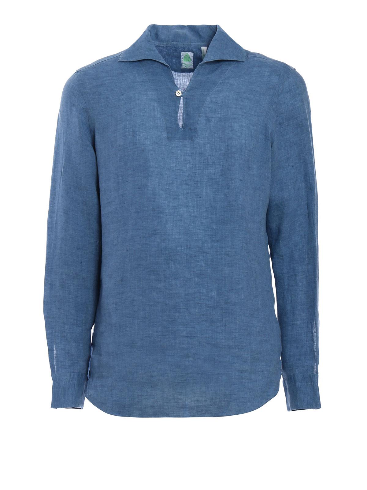 c4b0dc9b6b Finamore 1925 - Minorca linen shirt - shirts - MINORCAA01060876