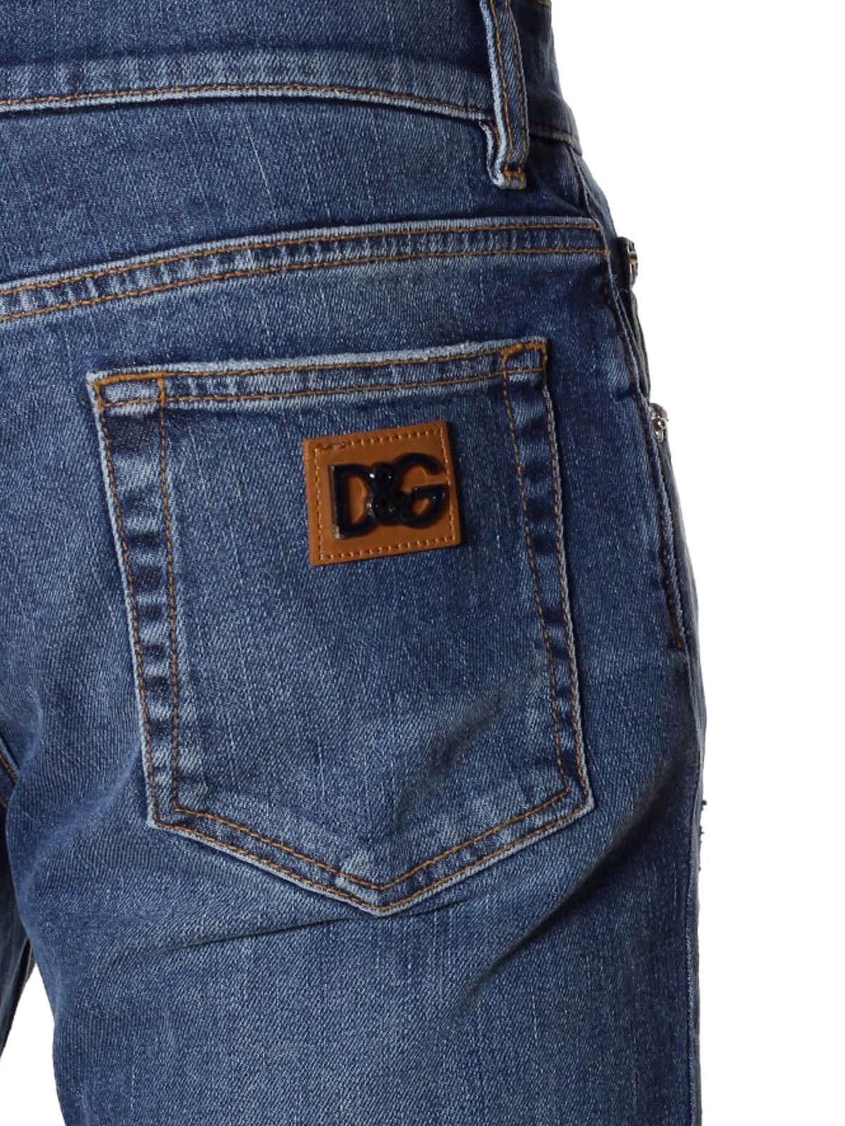 jeans cinque tasche in denim d lav dolce gabbana jeans dritti a sigaretta ikrix. Black Bedroom Furniture Sets. Home Design Ideas