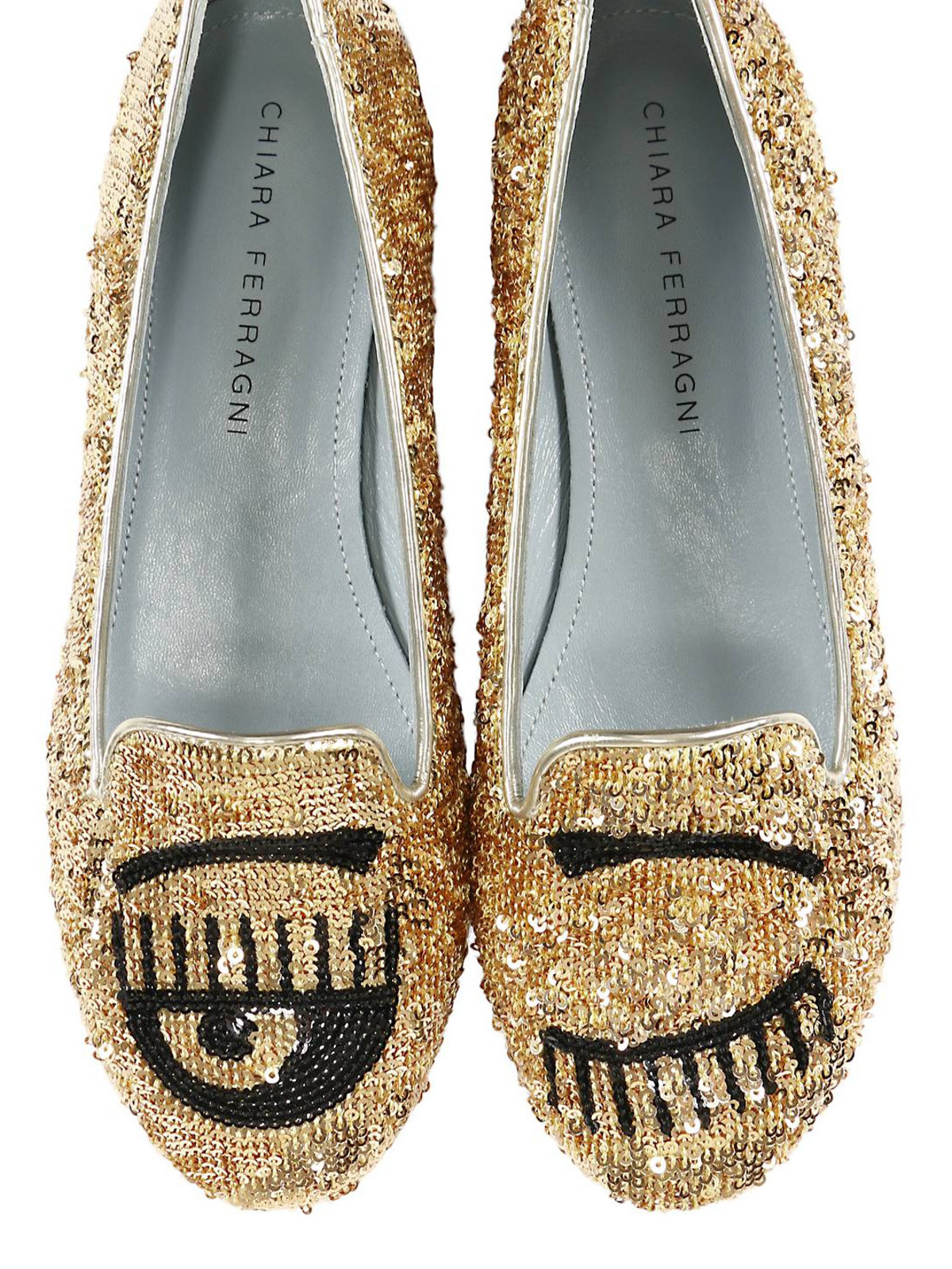 030c99456 Chiara Ferragni - Flirting sequined flat shoes - Loafers & Slippers ...