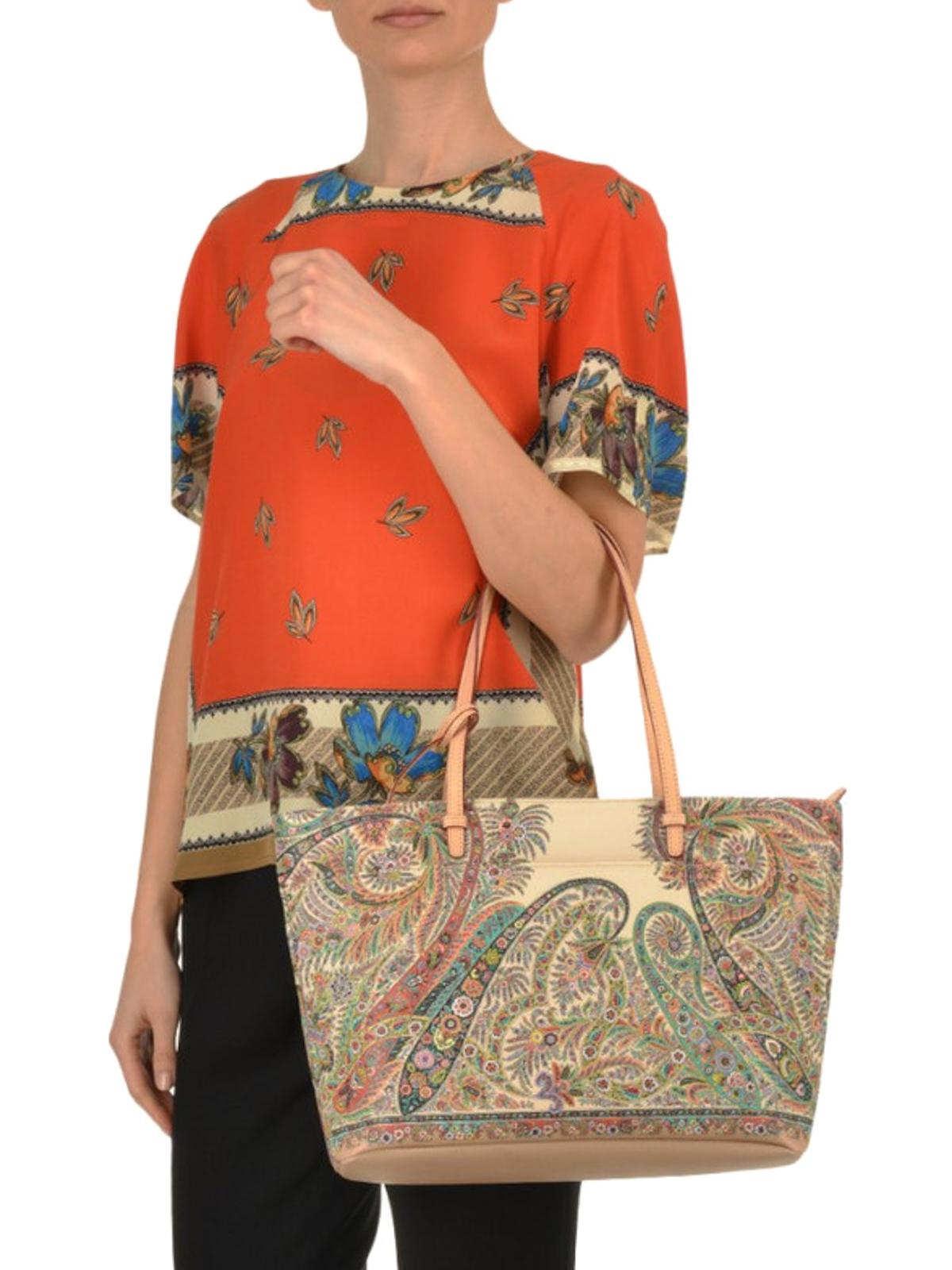 separation shoes 9fbd2 24d77 Etro - Floral Paisley shopping bag - totes bags - 1G61922818000