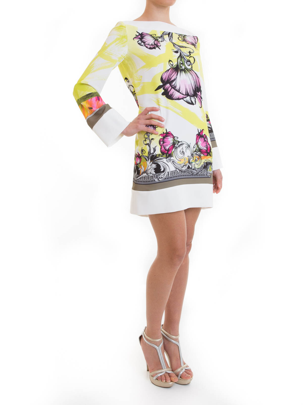huge selection of c7119 3721b Versace Collection - Abito in jersey fantasia floreale ...
