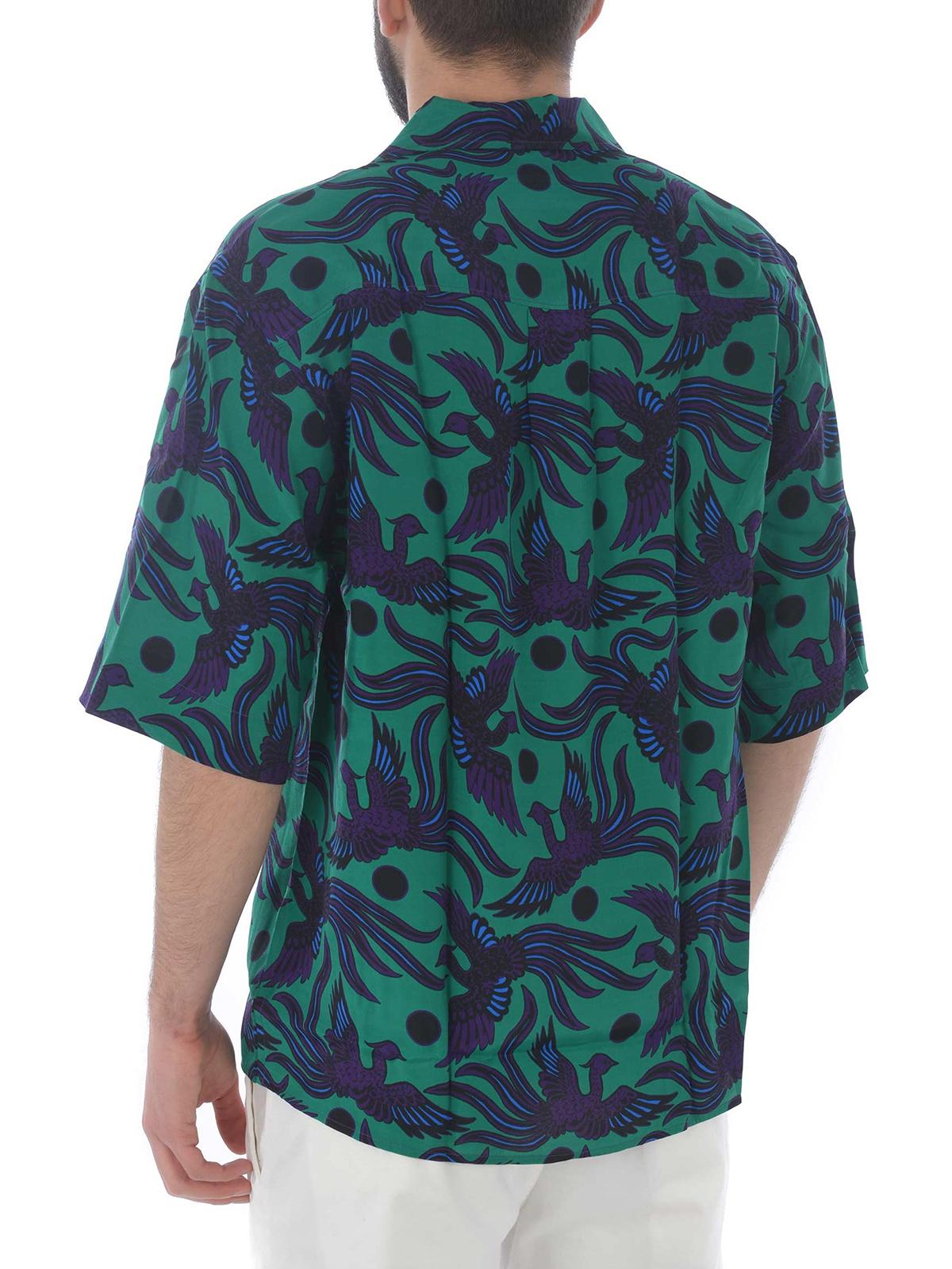6a25d7e0 Kenzo - Flying Phoenix hawaiian shirt - shirts - F955CH5281KB 57