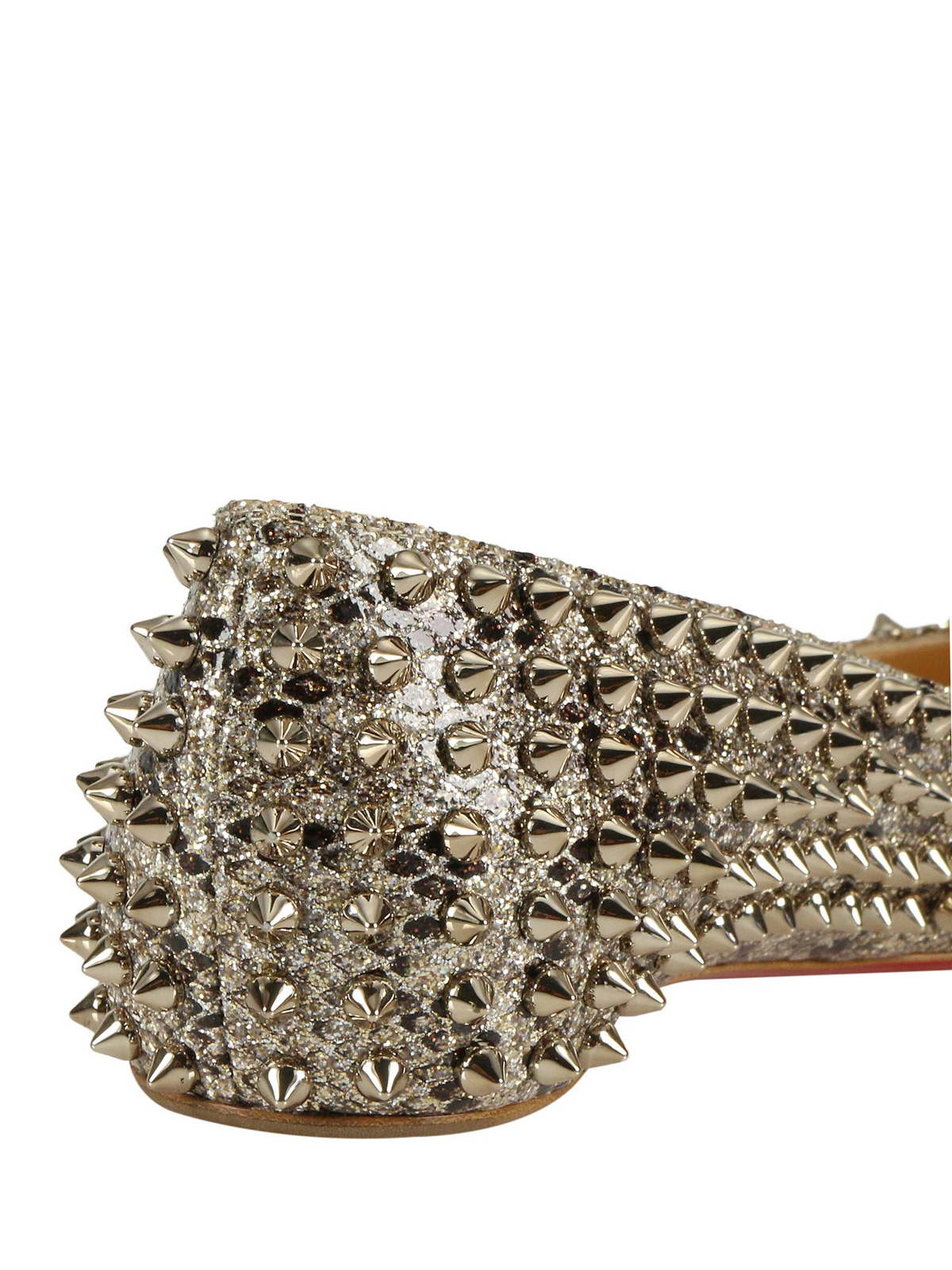 buy online 673aa 91702 Christian Louboutin - Follies Spikes ayers leather flats ...