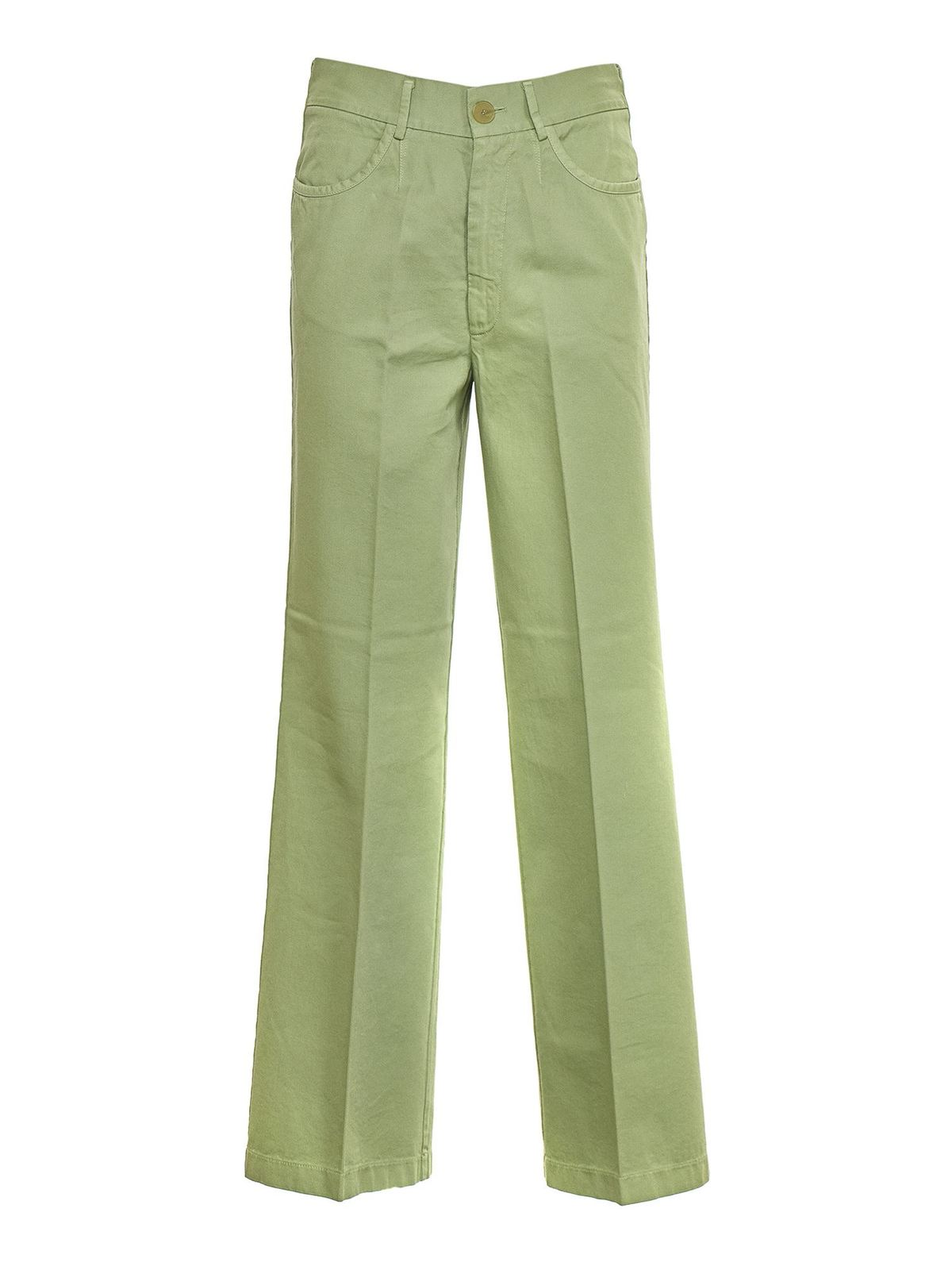 Forte Forte WIDE LEG TROUSERS IN MINT COLOR