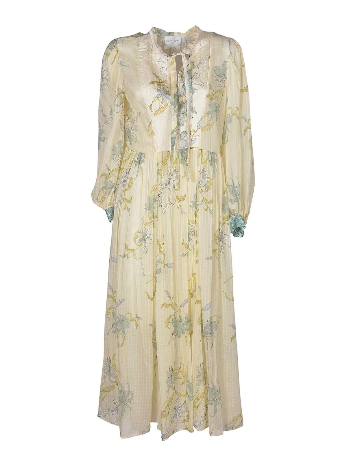 Forte Forte FLORAL PRINTED COTTON BLEND DRESS
