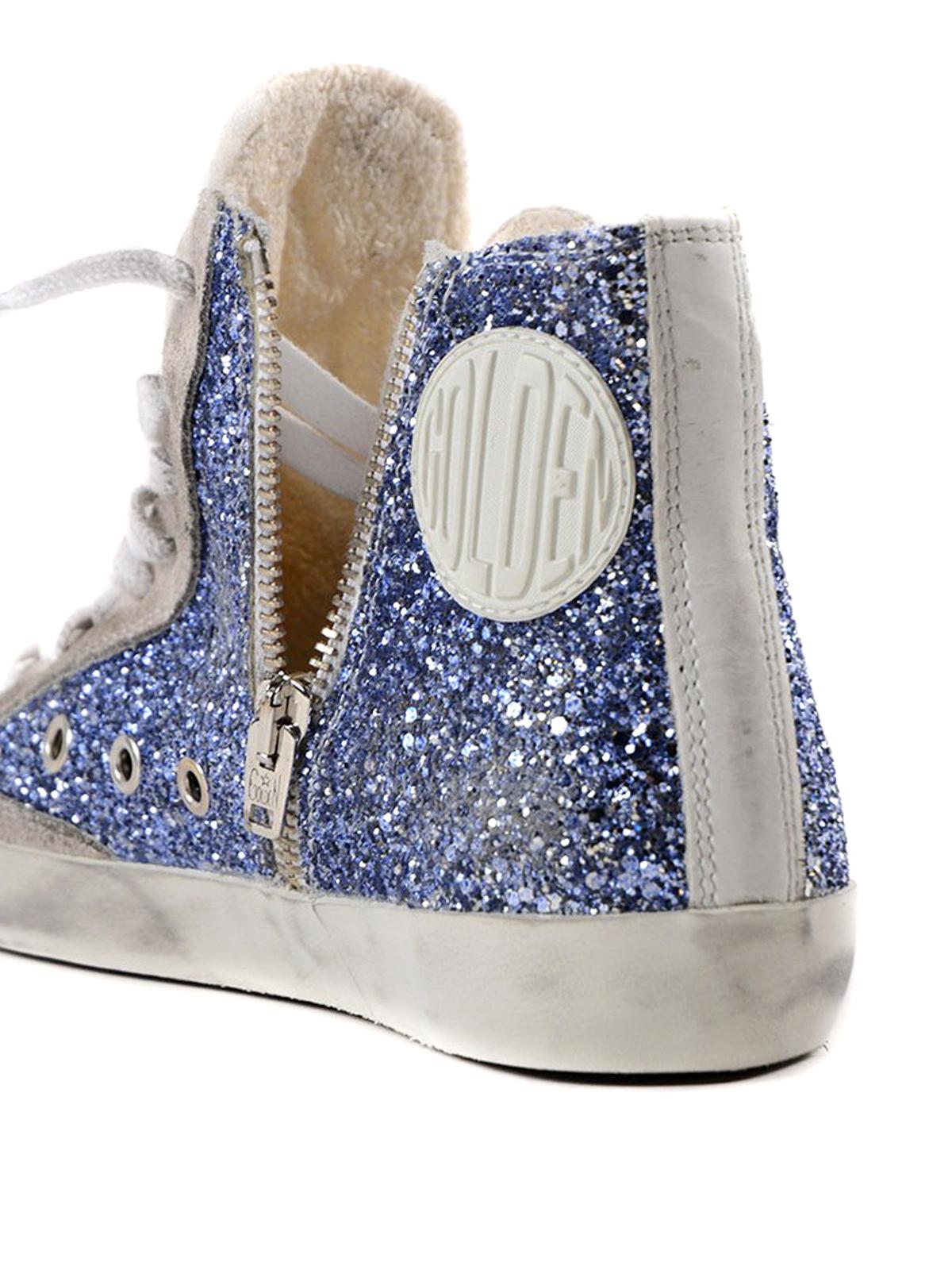 Golden Goose - Francy blue glitter hi