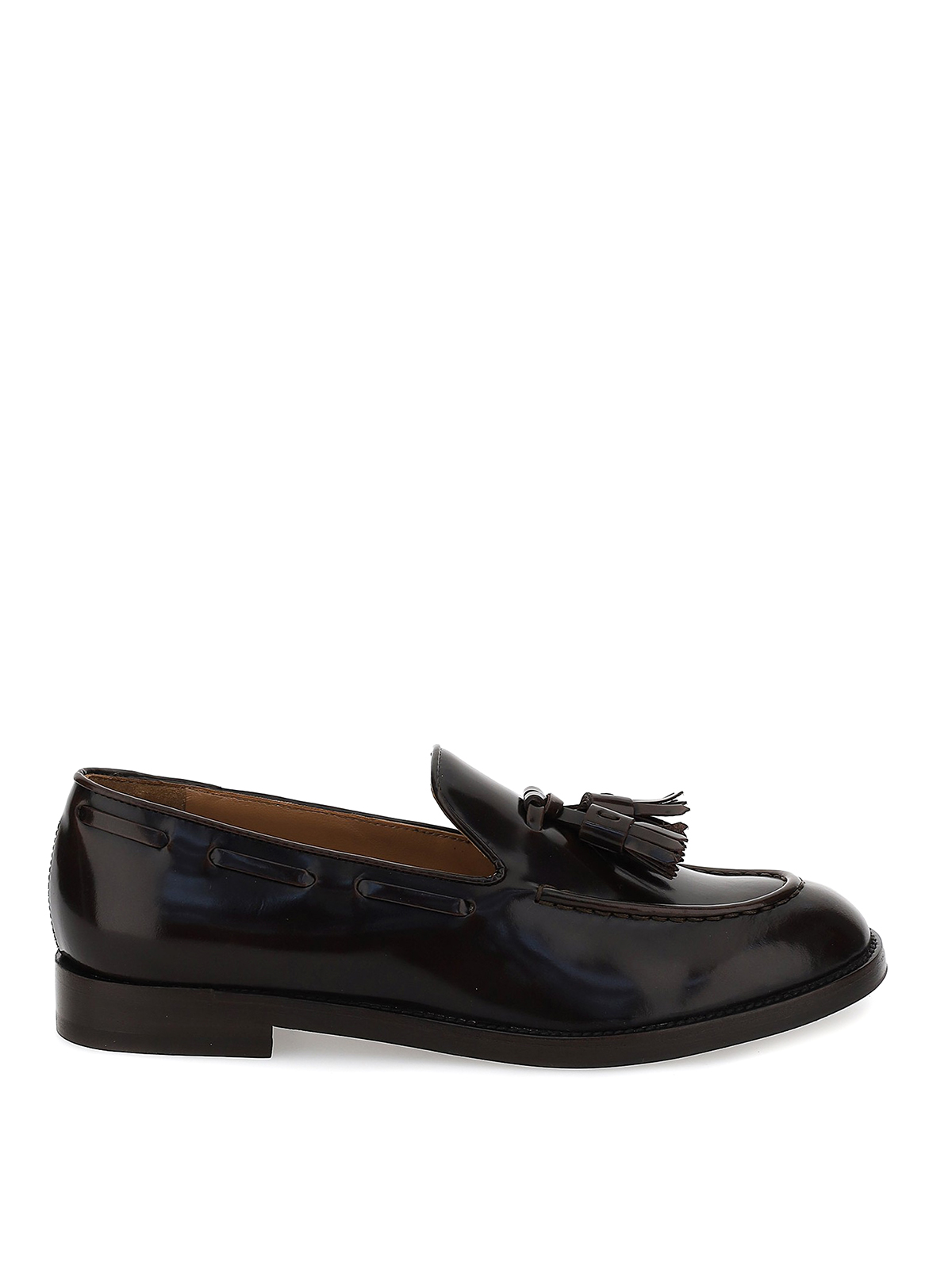 Fratelli Rossetti BRUSHED LEATHER LOAFERS