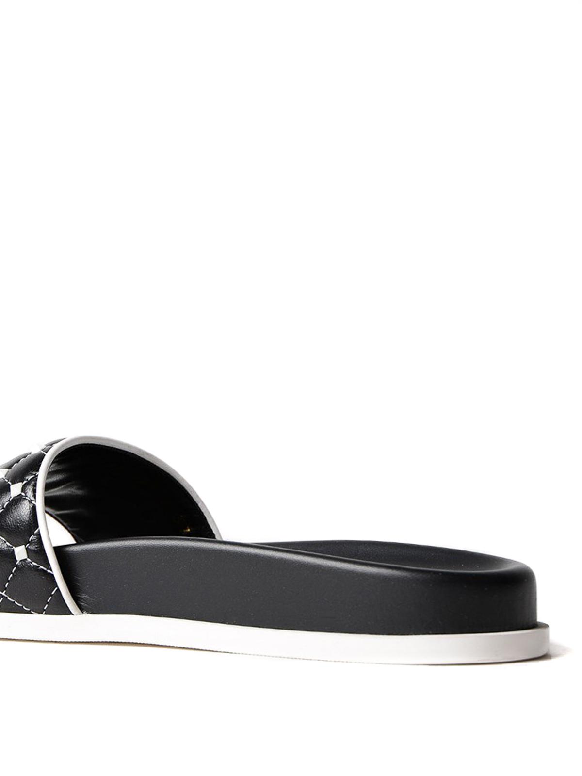 d077a1913a62 Valentino Garavani - Free Rockstud Spike black slides - sandals ...