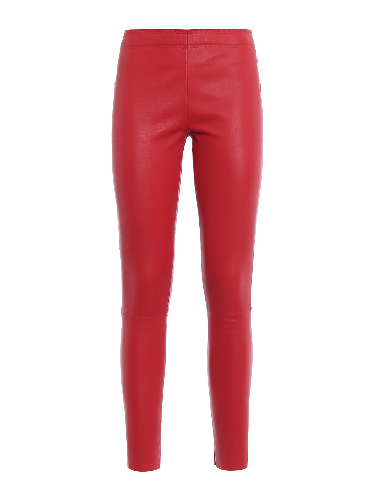311e51b0e2 Frida Muse - Leggings in pelle stretch rossa - pantaloni in pelle ...