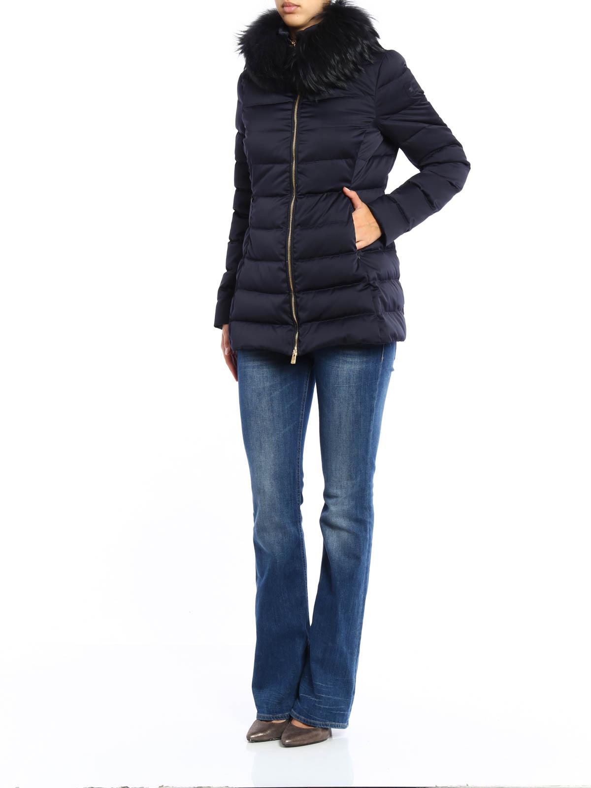 size 40 3048c 74783 Montecore - Piumino trapuntato con pelliccia - cappotti ...