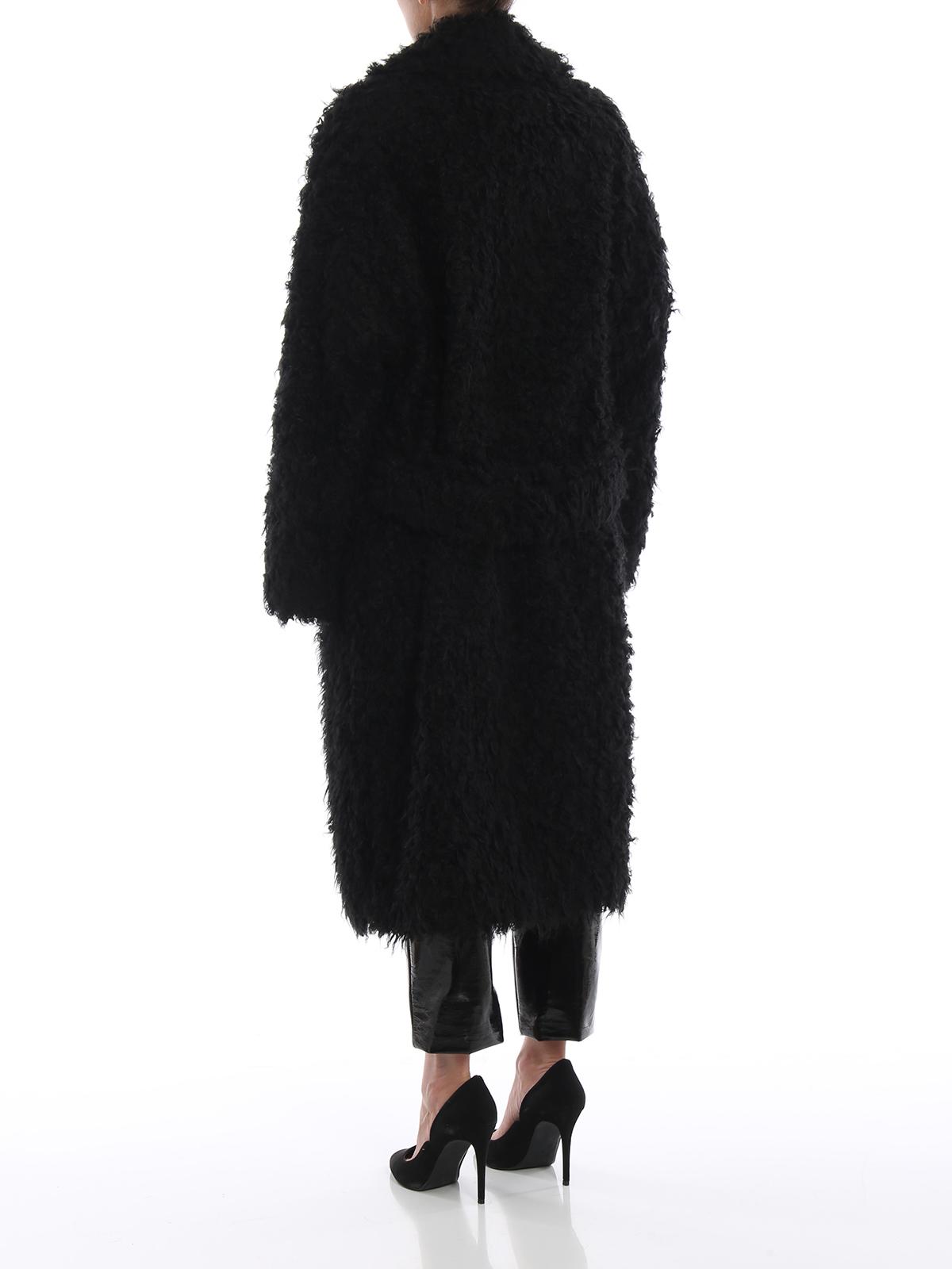 Cappotto lungo effetto pelliccia