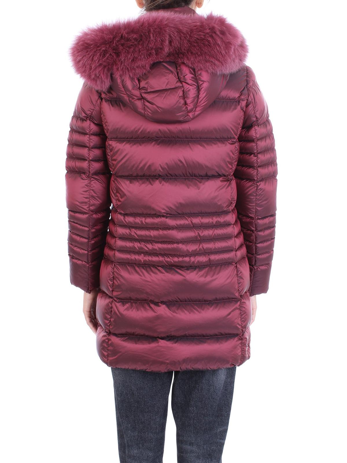 Colmar Originals Piumino lungo con cappuccio e pelliccia