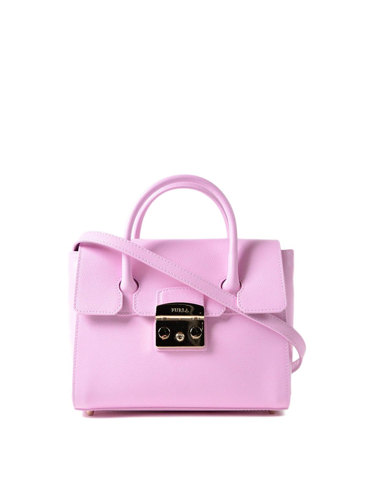Furla - Metropolis S pink leather satchel - bowling bags - 928929 742c829898ab6
