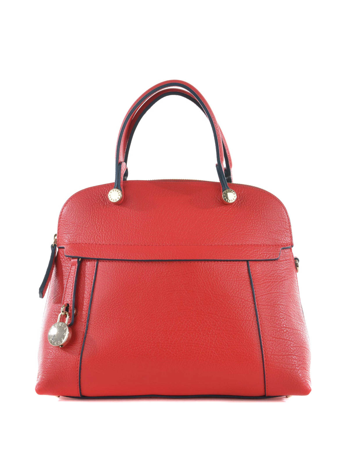 Furla - Piper hammered leather bag - bowling bags