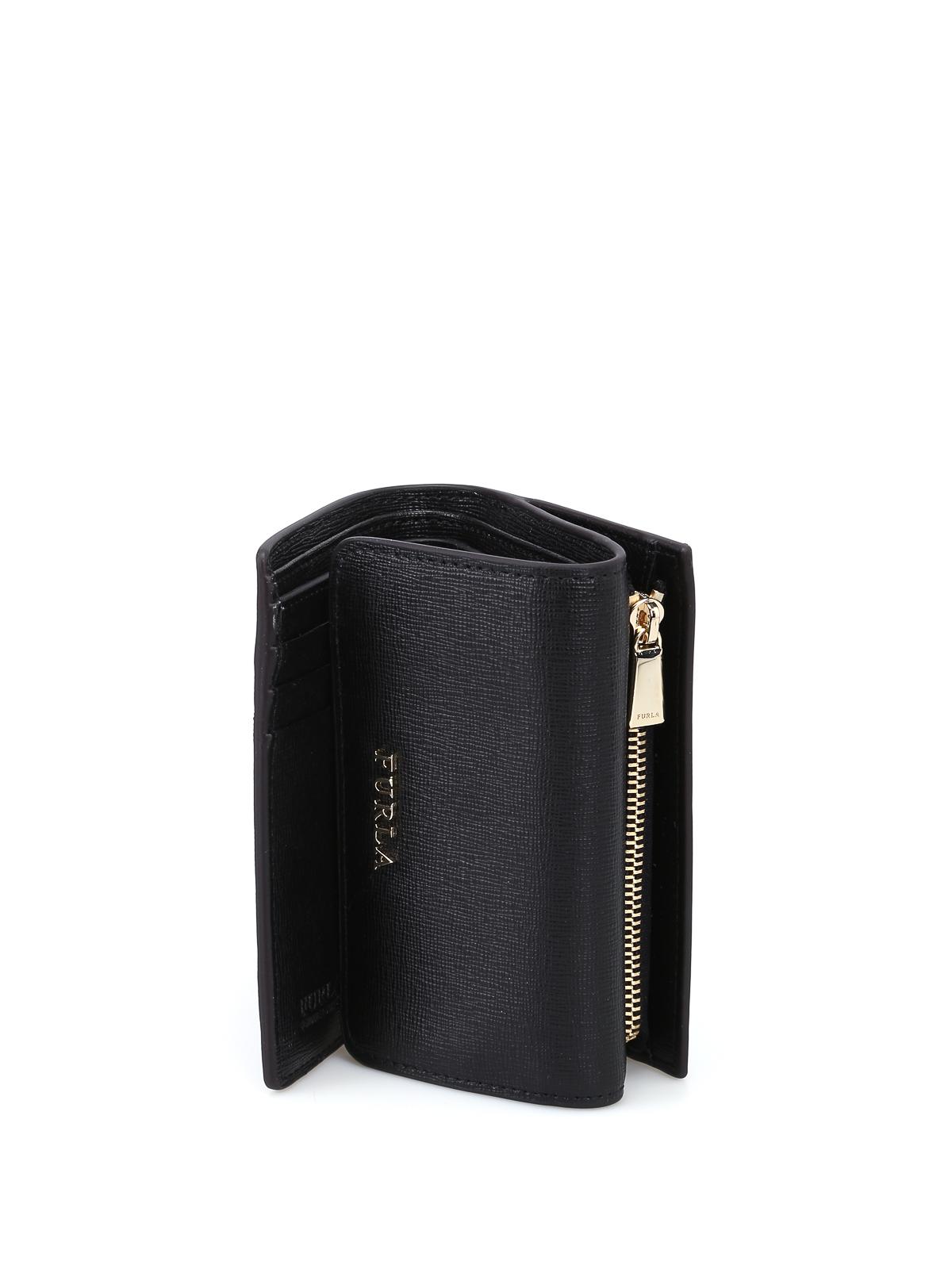 Furla - Babylon small trifold black wallet - wallets   purses - 872817 14fd5c563