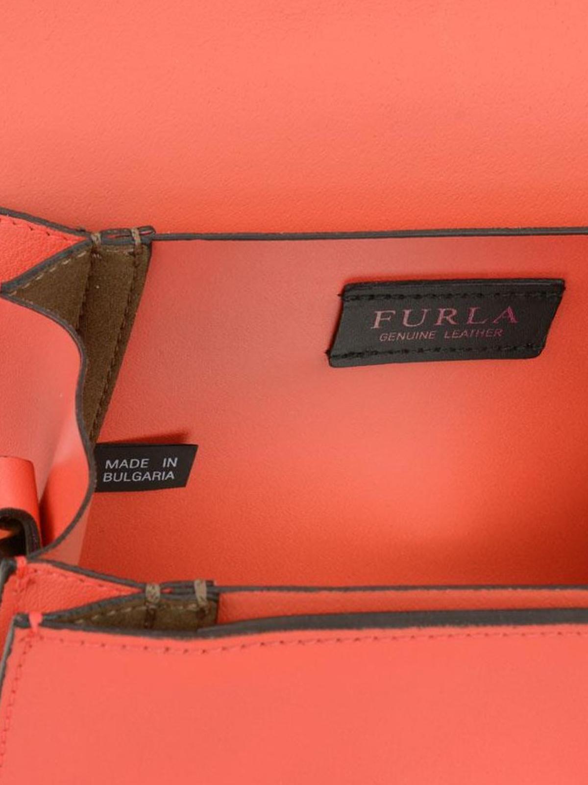 Furla Milano S orange soft leather bag OUMAJqBW6