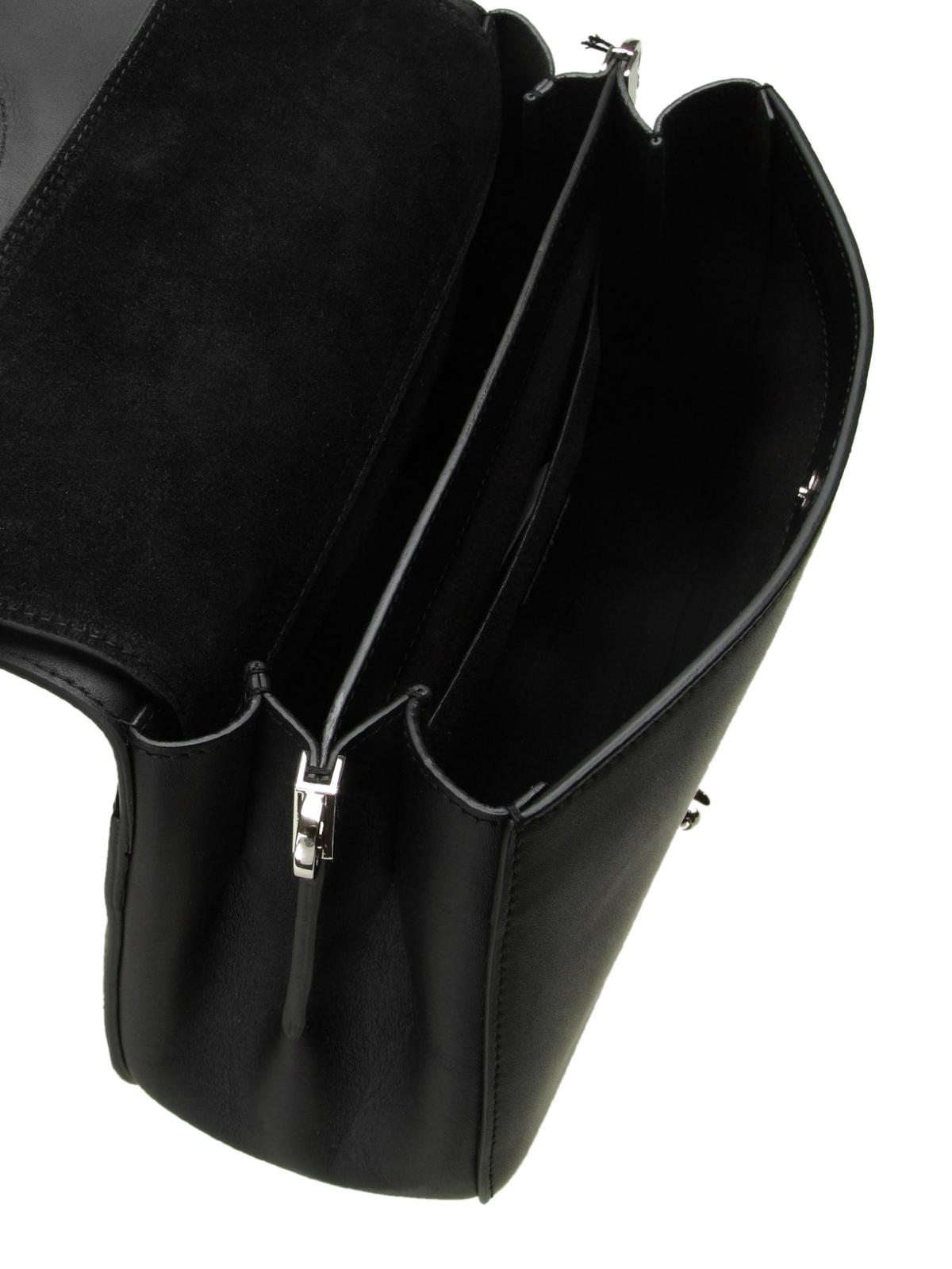 f25f4f4242 Furla - Small Margherita black leather shoulder bag - shoulder bags ...