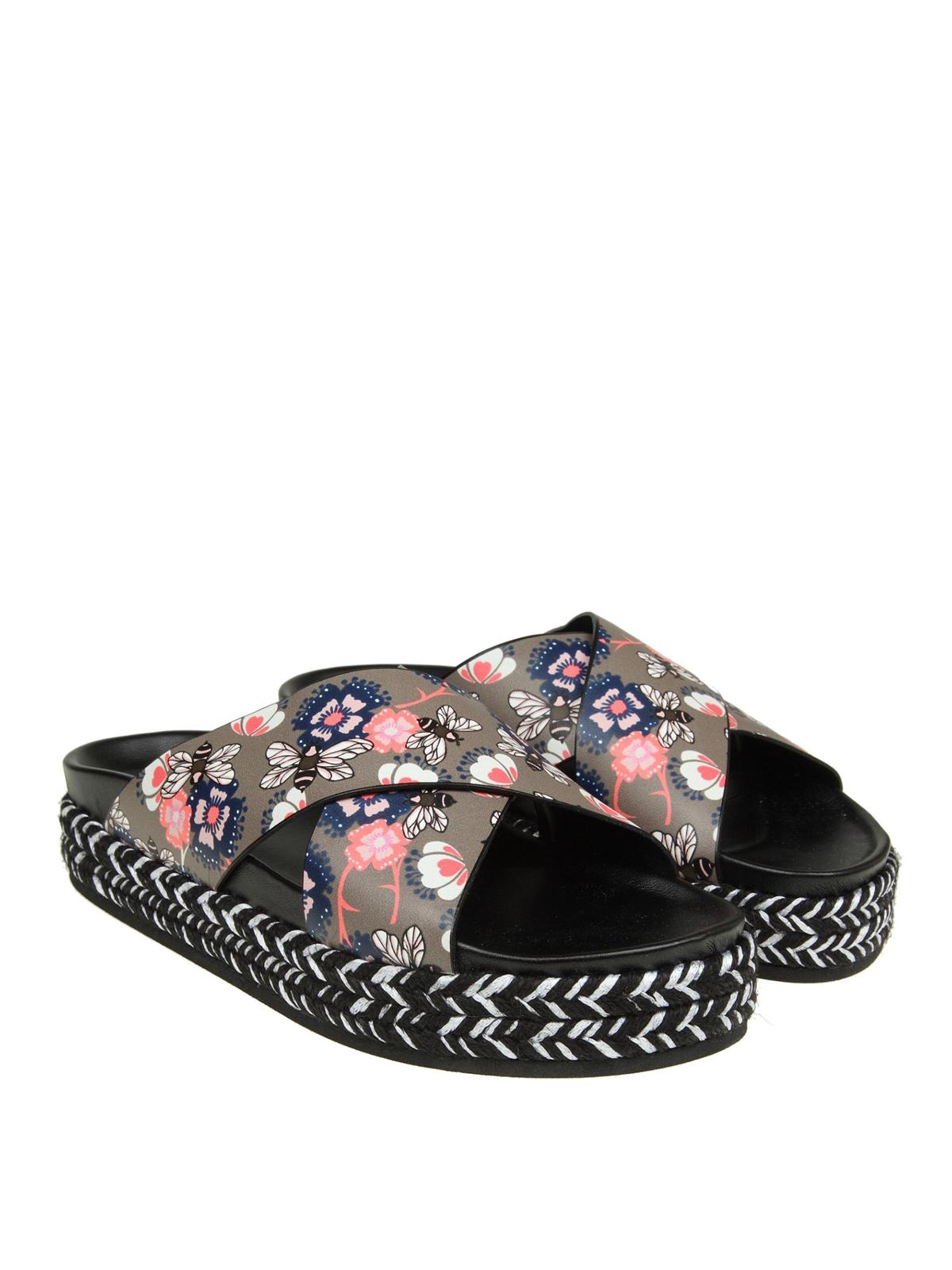 Leather Ya79 Printed Furla Sandals Crossover Sabbia 8nkXNO0PZw
