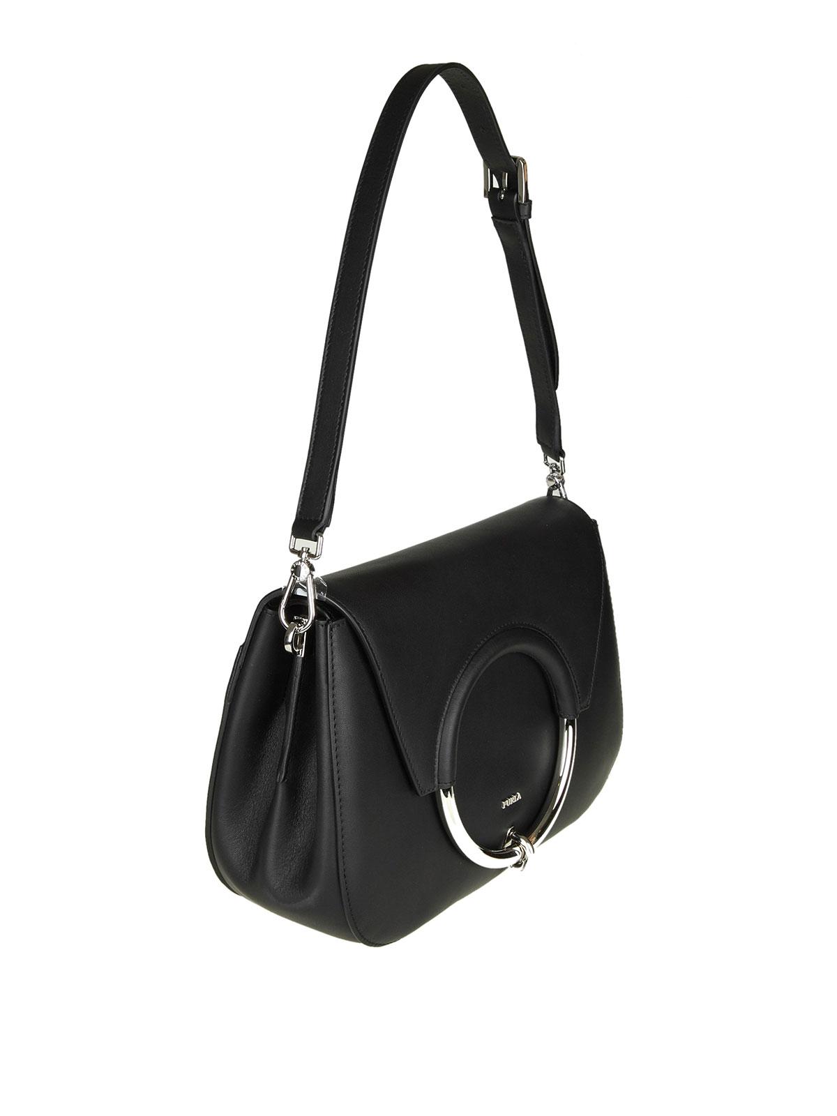 1043ab86f0 FURLA  shoulder bags online - Small Margherita black leather shoulder bag