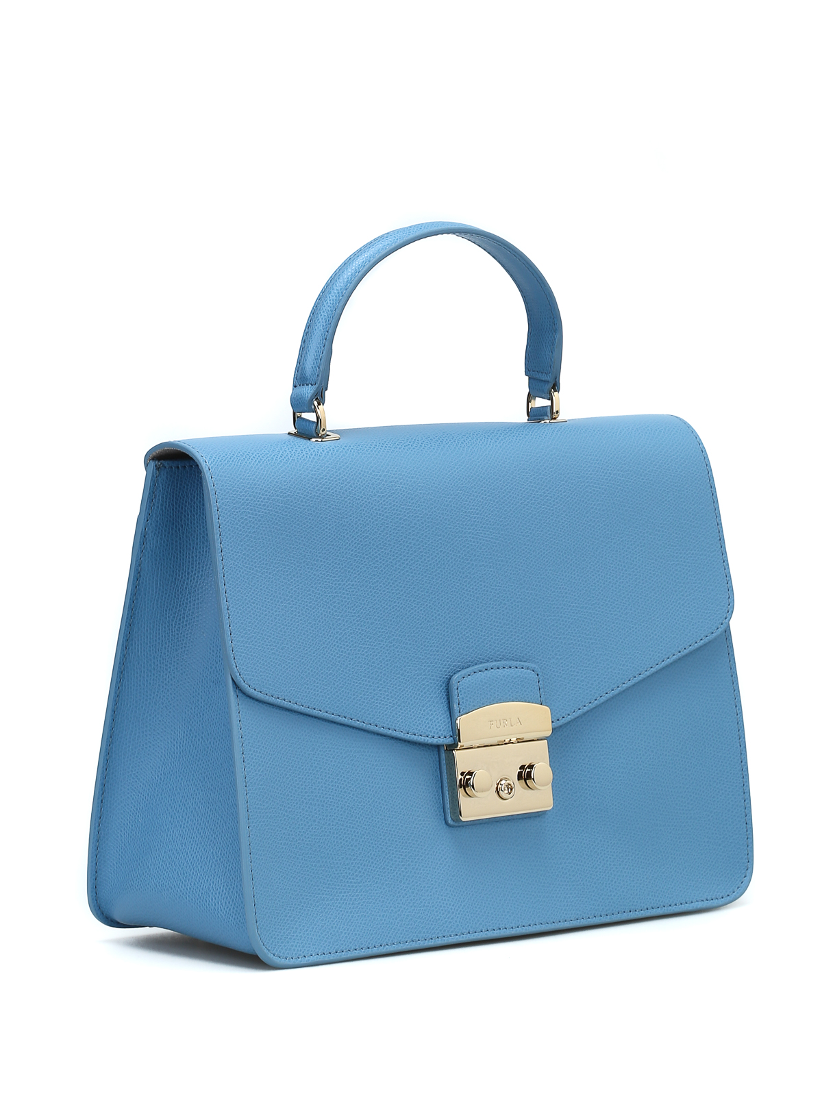 Furla Metropolis M sky blue leather bag tVnhK8SrHh