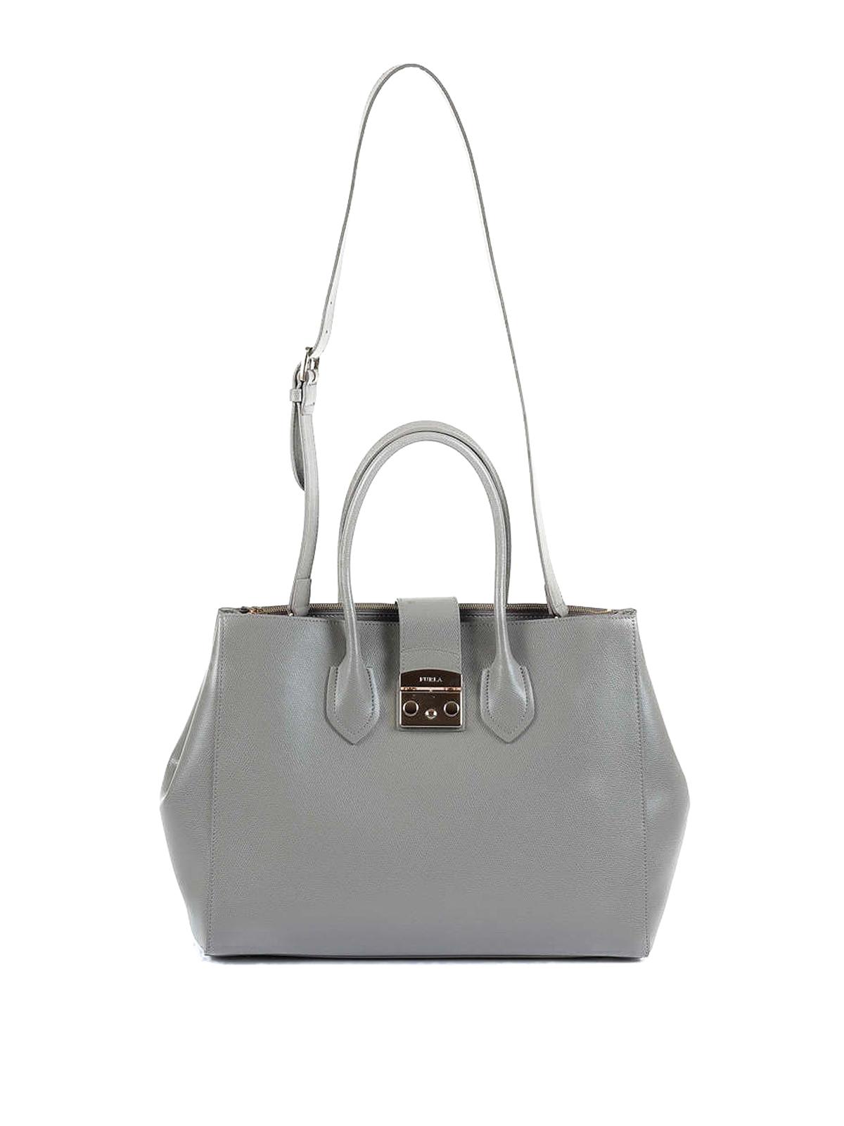 561bfc5ca Furla - Metropolis XL grey leather tote - totes bags - 908115 ...