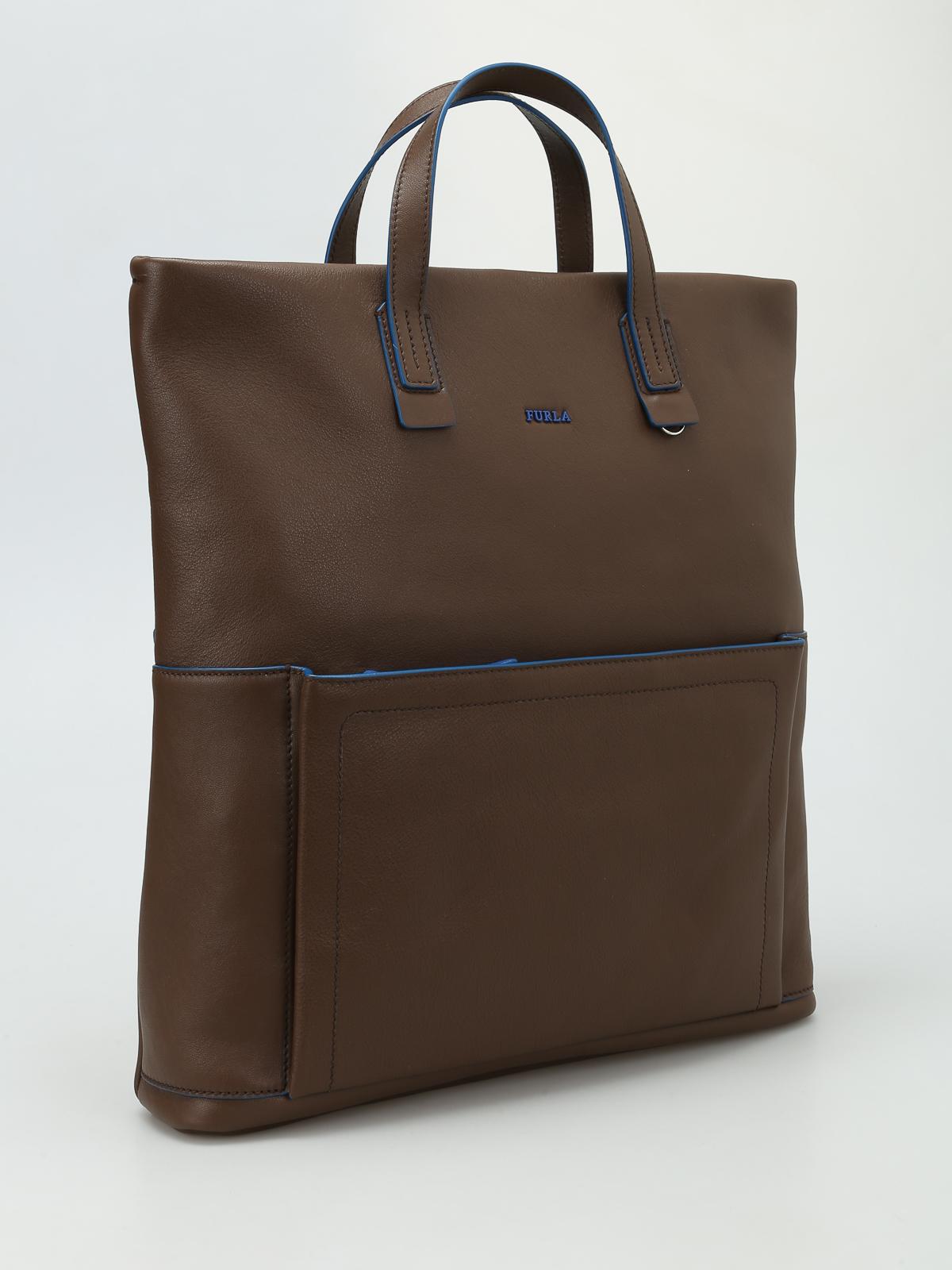 handtasche man icaro braun von furla handtaschen ikrix. Black Bedroom Furniture Sets. Home Design Ideas