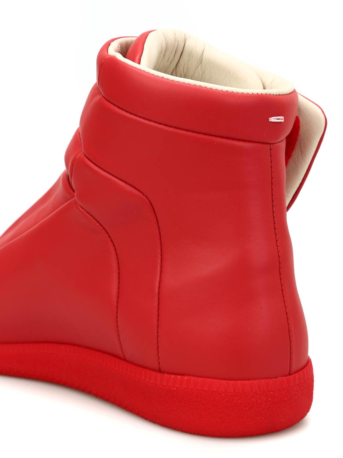 Future high top leather sneakers by maison margiela for Au maison online shop