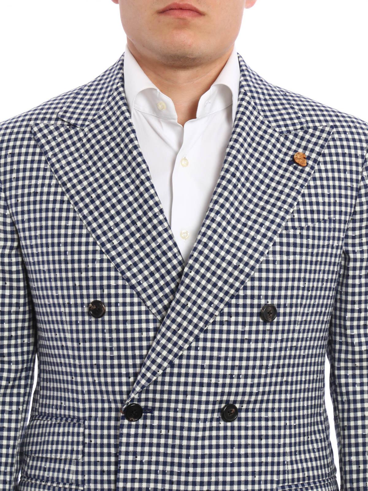 0ccf18376ddcf Uomo · Abbigliamento · Accessori · Borse · Scarpe · Acquista ora · GABRIELE  PASINI buy online Giacca in frescolana vichy